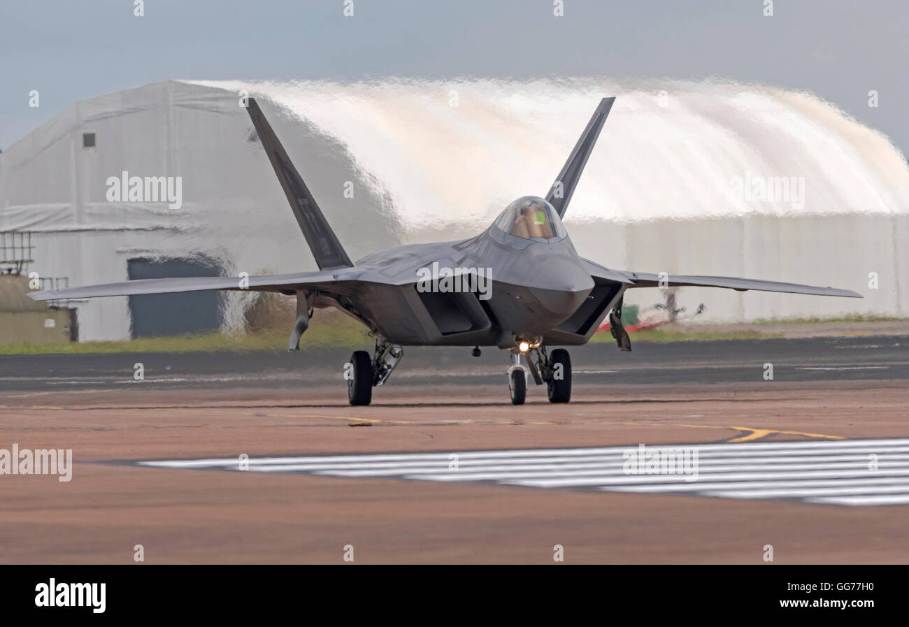Lockheed Martin F-22A Raptor USAF FF AF 09181 at the Royal International air Tattoo 2016 Stock Photo