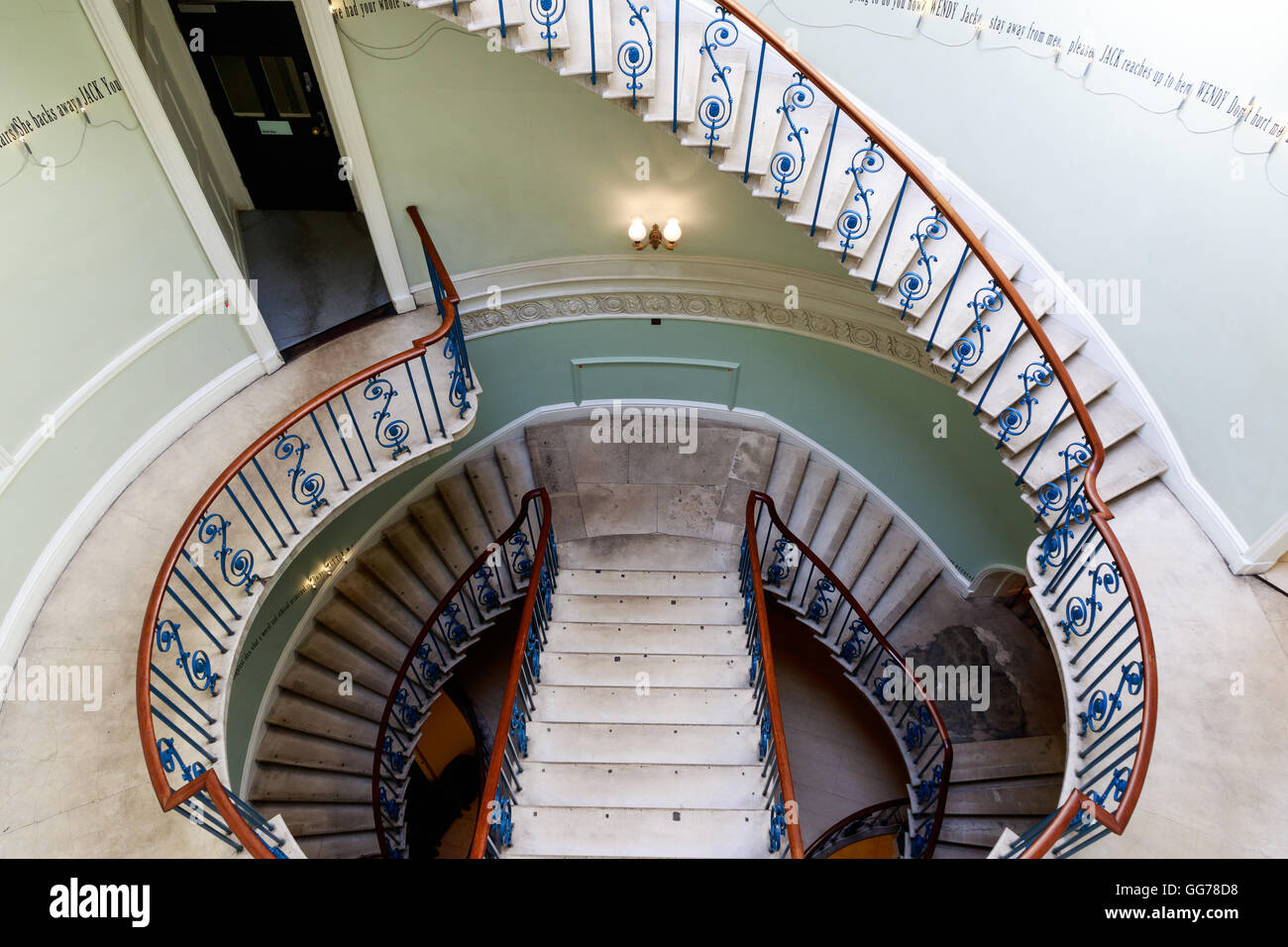 London, UK - July 5, 2016 - Rotunda Nelson Stair at the western side of Somerset House - Stock Image