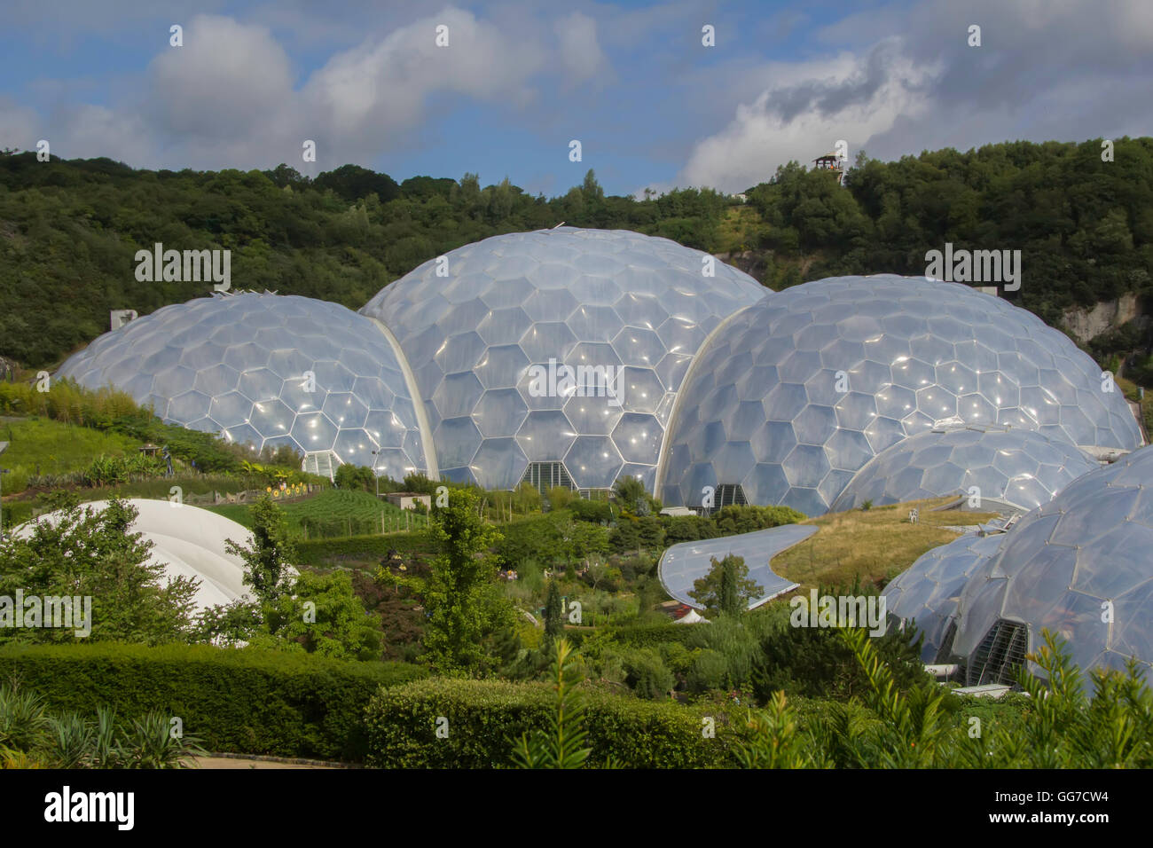 the biome's of the Eden project in cornwall england - Stock Image