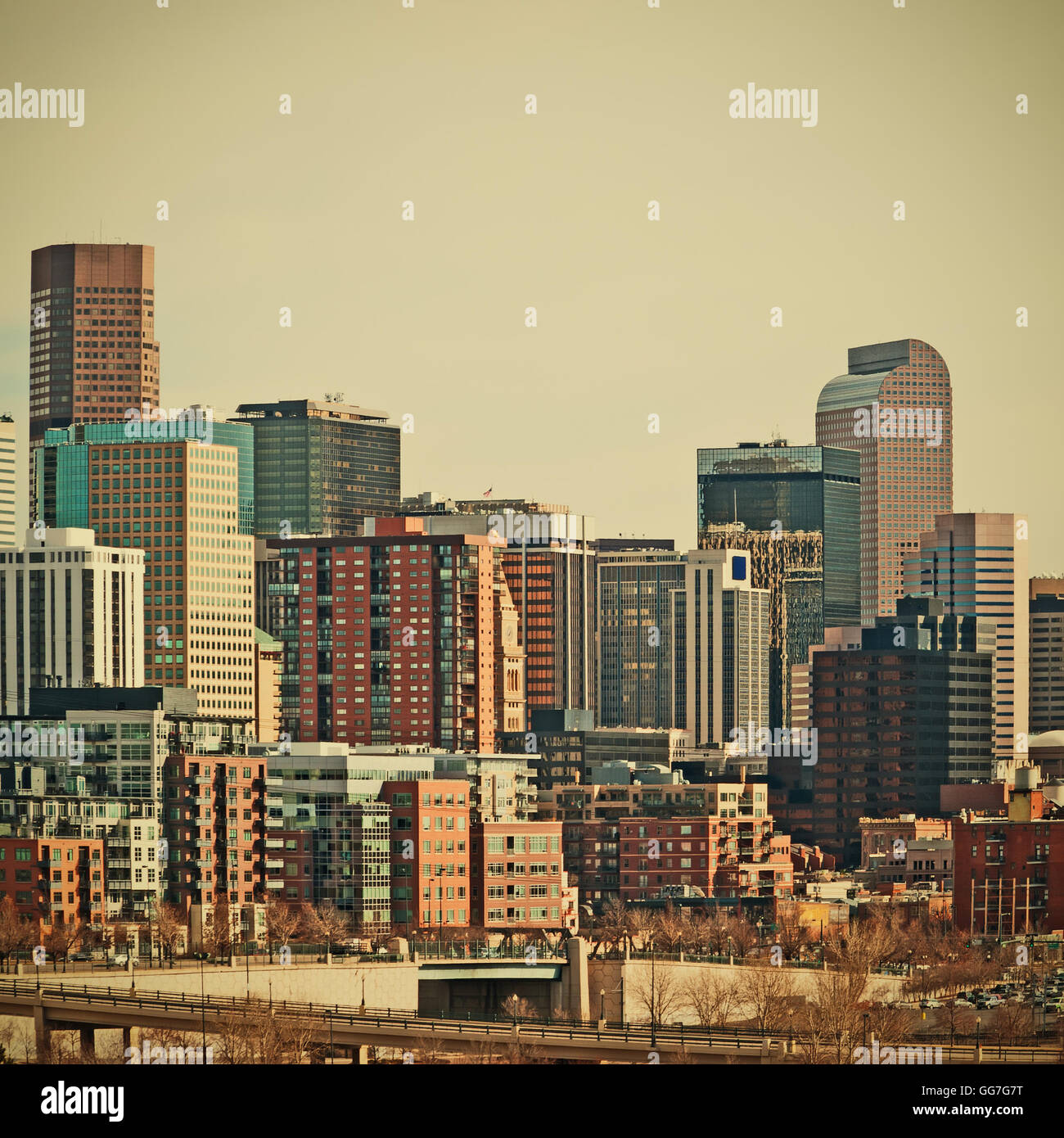 Downtown Denver, Colorado USA Tall Buildings And