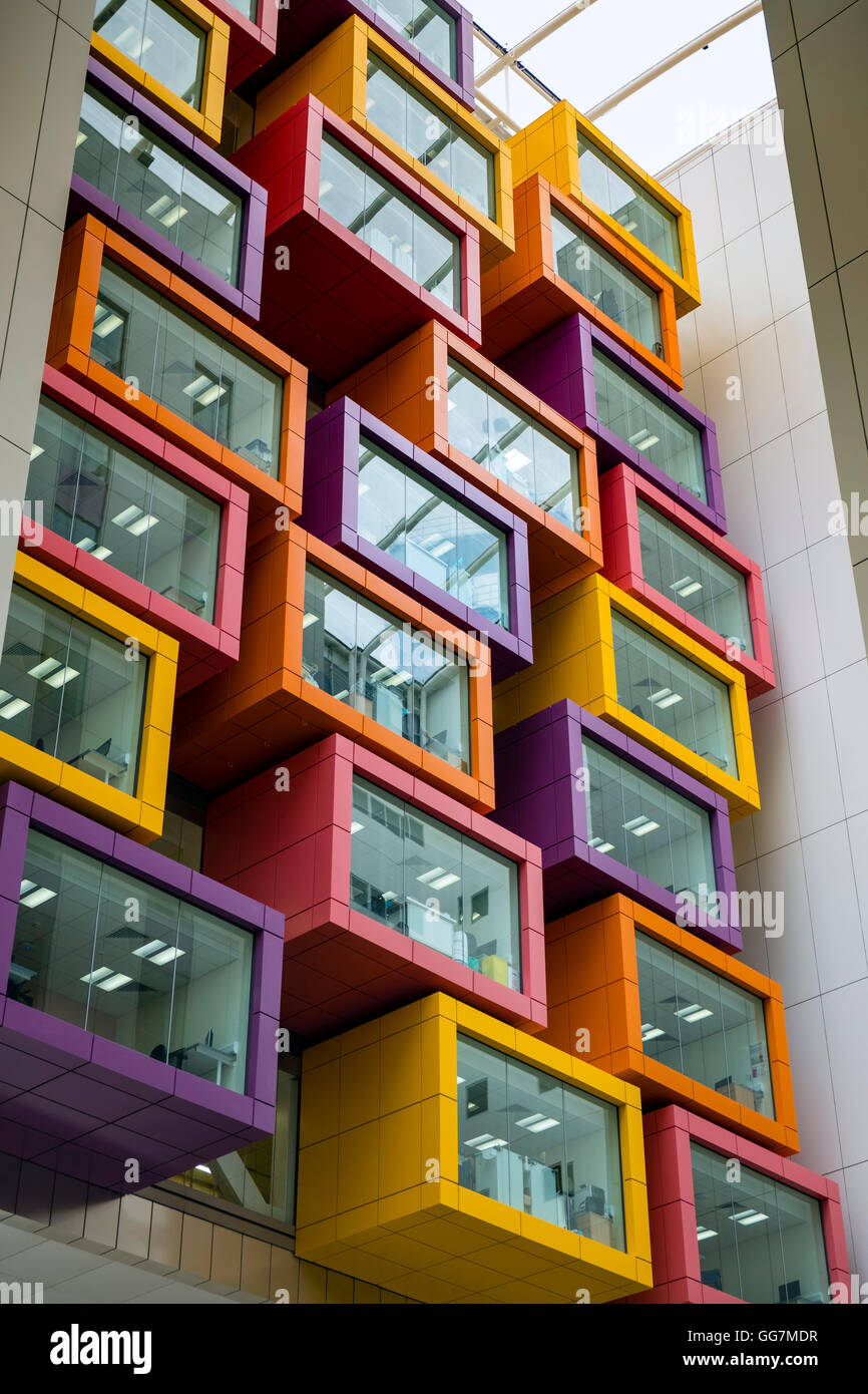 Interior view of new Queen Elizabeth University hospital in Glasgow , United Kingdom - Stock Image