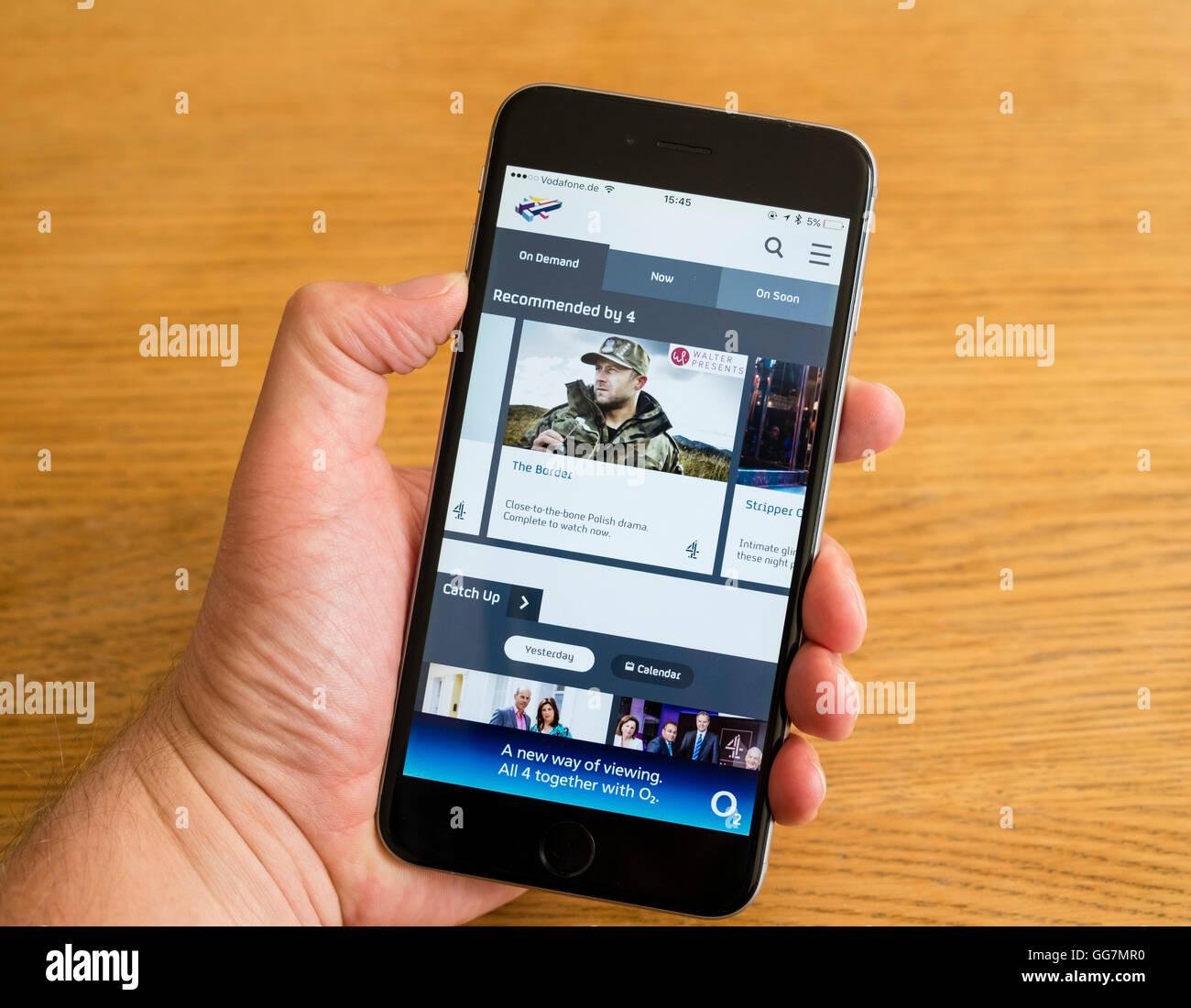 Tv Phone Screen Stock Photos & Tv Phone Screen Stock Images