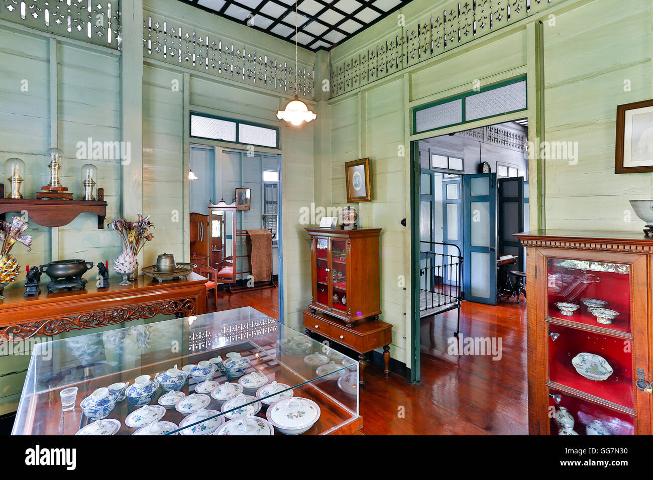 Bangkokian Museum or Bangkok Folk Museum located in Bangrak, Bangkok, Thailand. Stock Photo