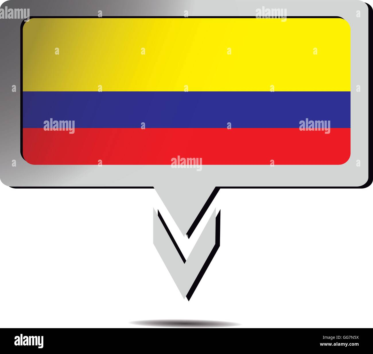 National Symbols Flag Colombia Stock Vector Images Alamy