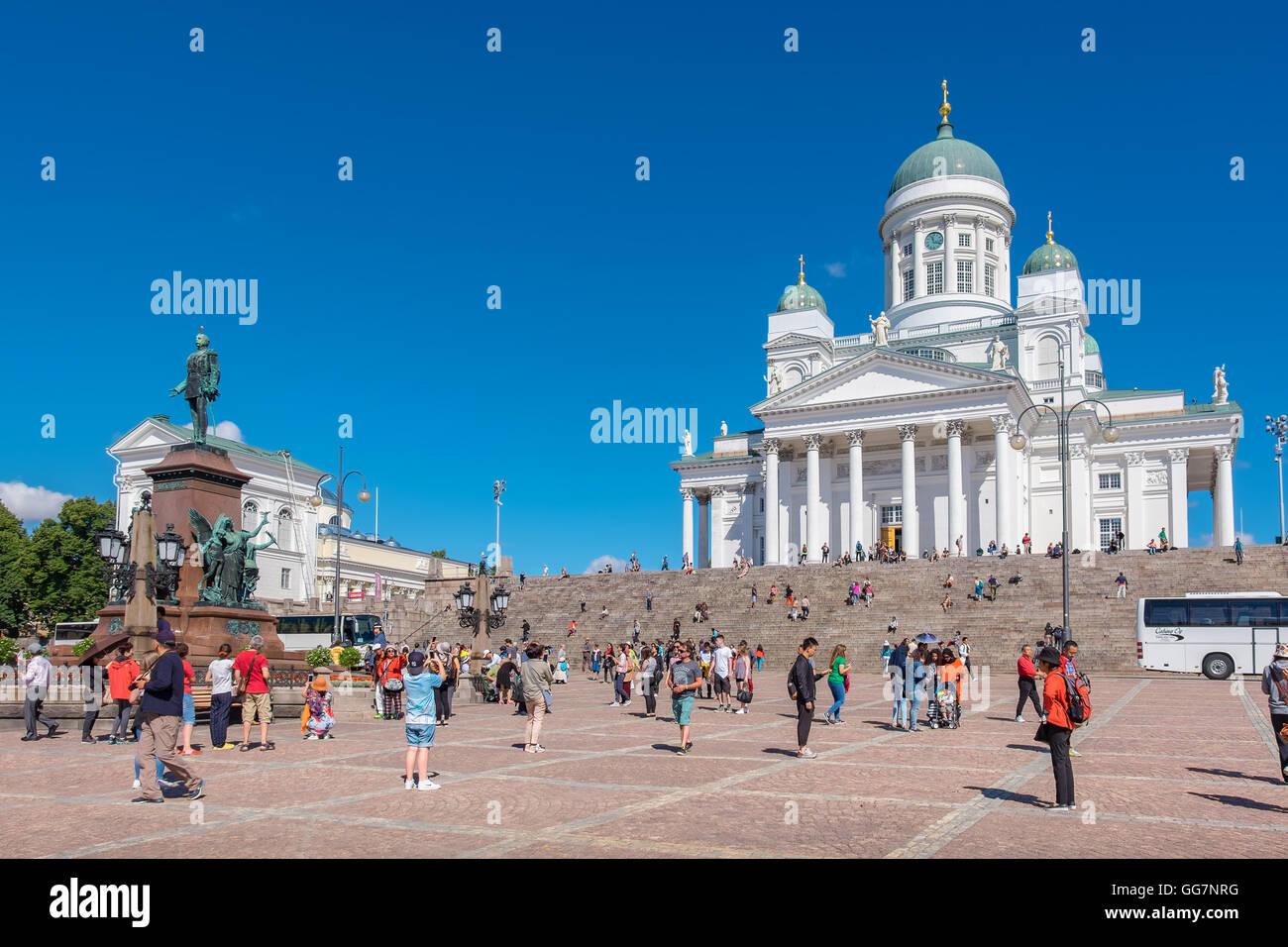 Senate Square. Helsinki, Finland - Stock Image