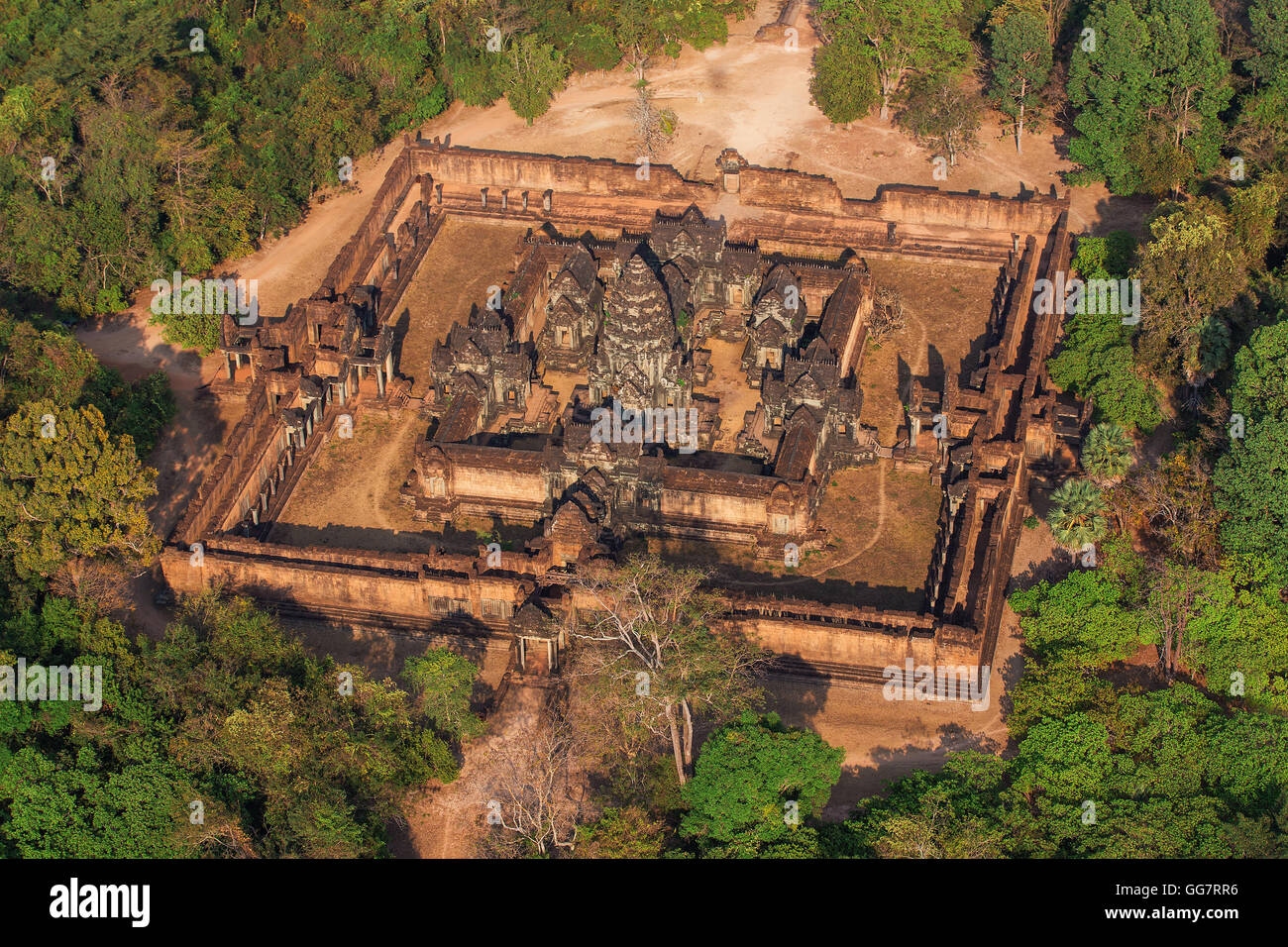 One of the amazing temples inflight, Siem reap, Cambodia. - Stock Image