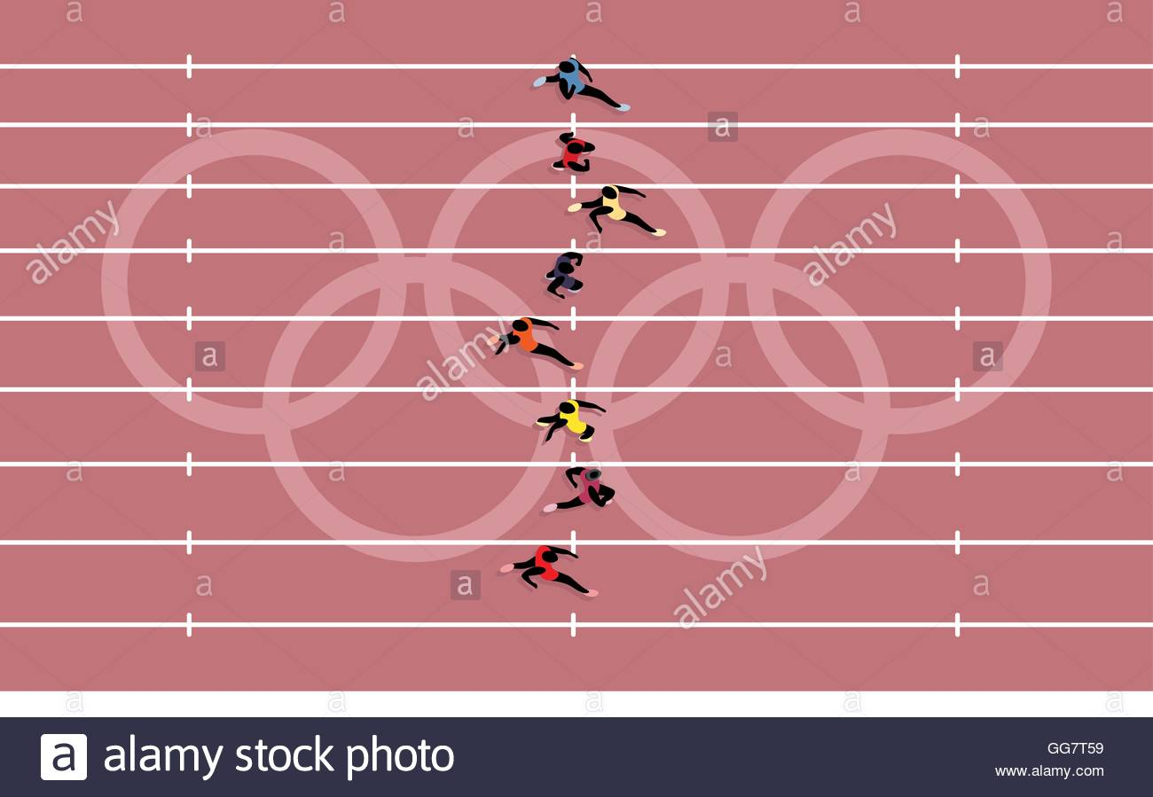 Track And Field Stock Vector