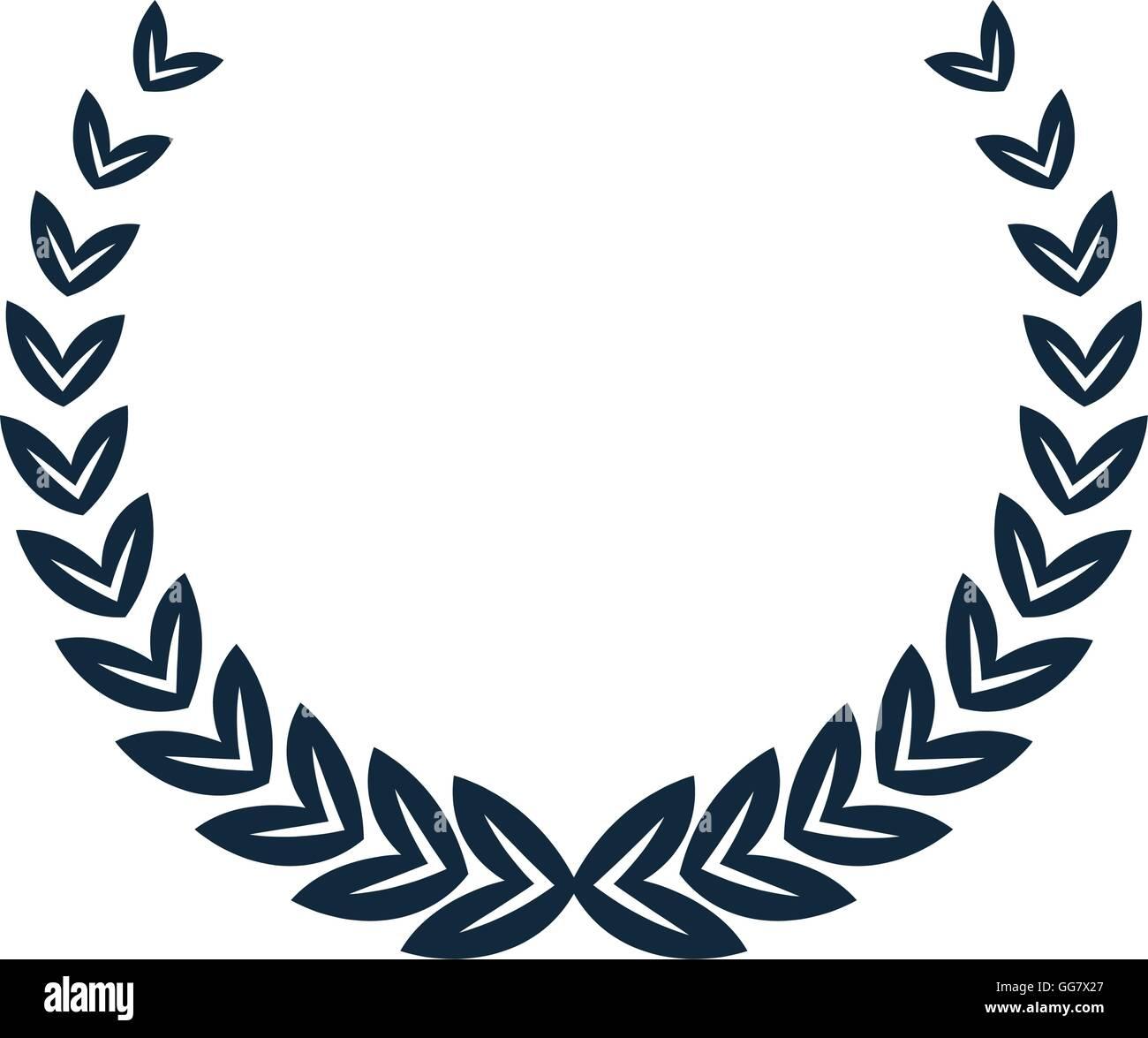 laurel wreath icon - Stock Image