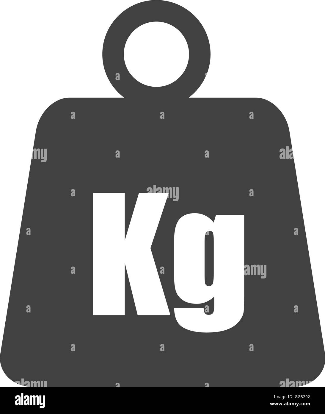 metal weight kilogram heavy icon. Vector graphic - Stock Image