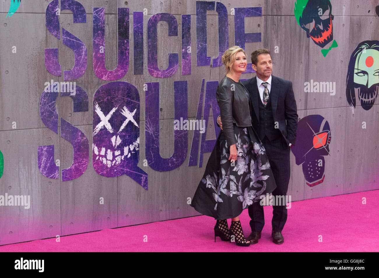 Leicester Square, London, August 3rd 2016. Hundreds of fans greet the stars of Suicide Squad at the film's European - Stock Image