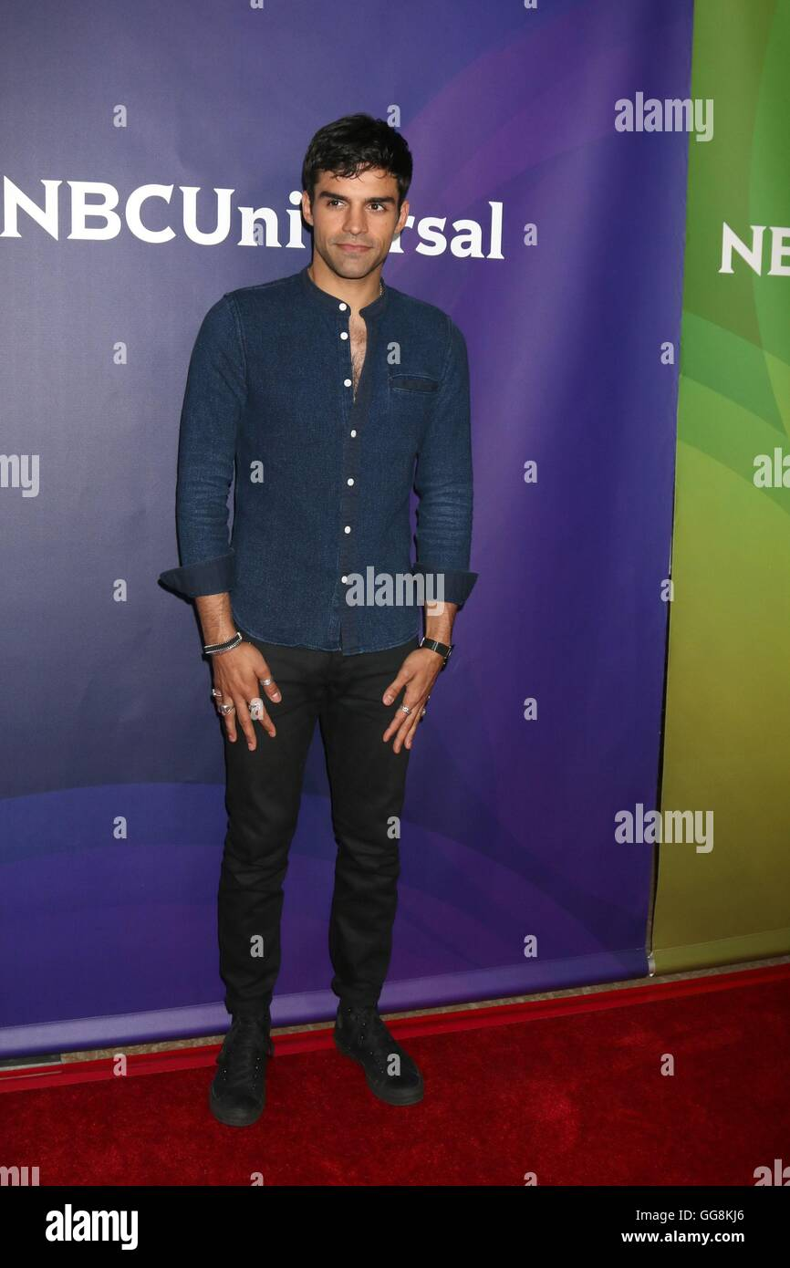 Beverly Hills, CA. 3rd Aug, 2016. Sean Teale at arrivals for 2016 NBC Universal Summer Press Tour - WED, The Beverly - Stock Image