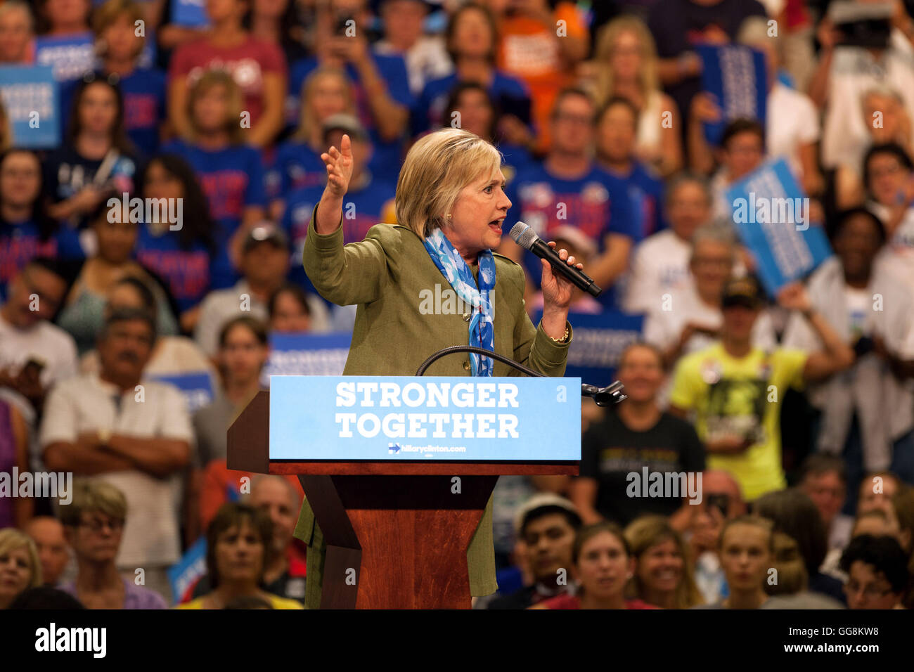 Commerce City, Colorado, USA  3rd Aug, 2016  Hillary Clinton rallies