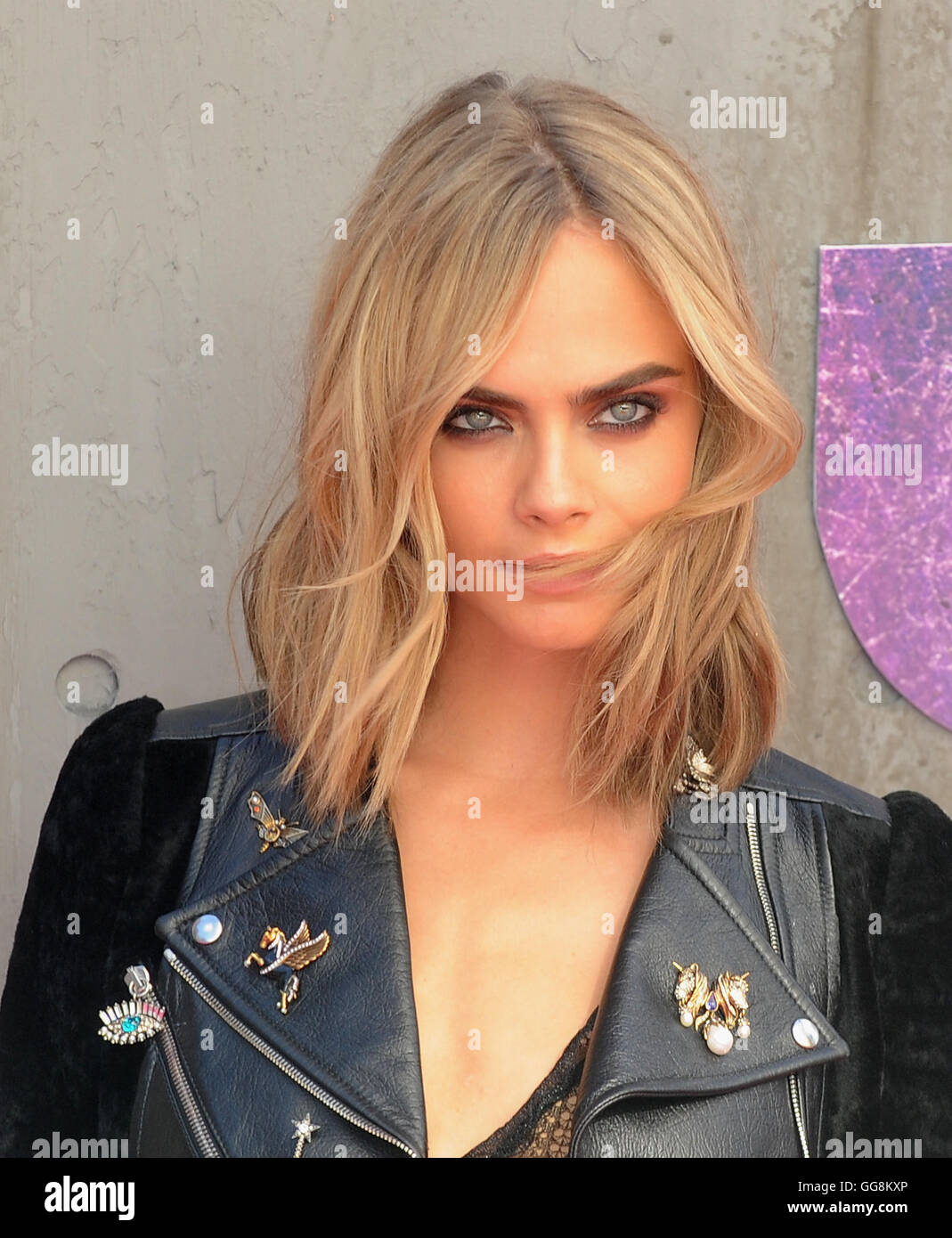 London, UK, UK. 3rd Aug, 2016. CARA DELEVINGNE attends the European Premiere of 'Suicide Squad' at Odeon - Stock Image