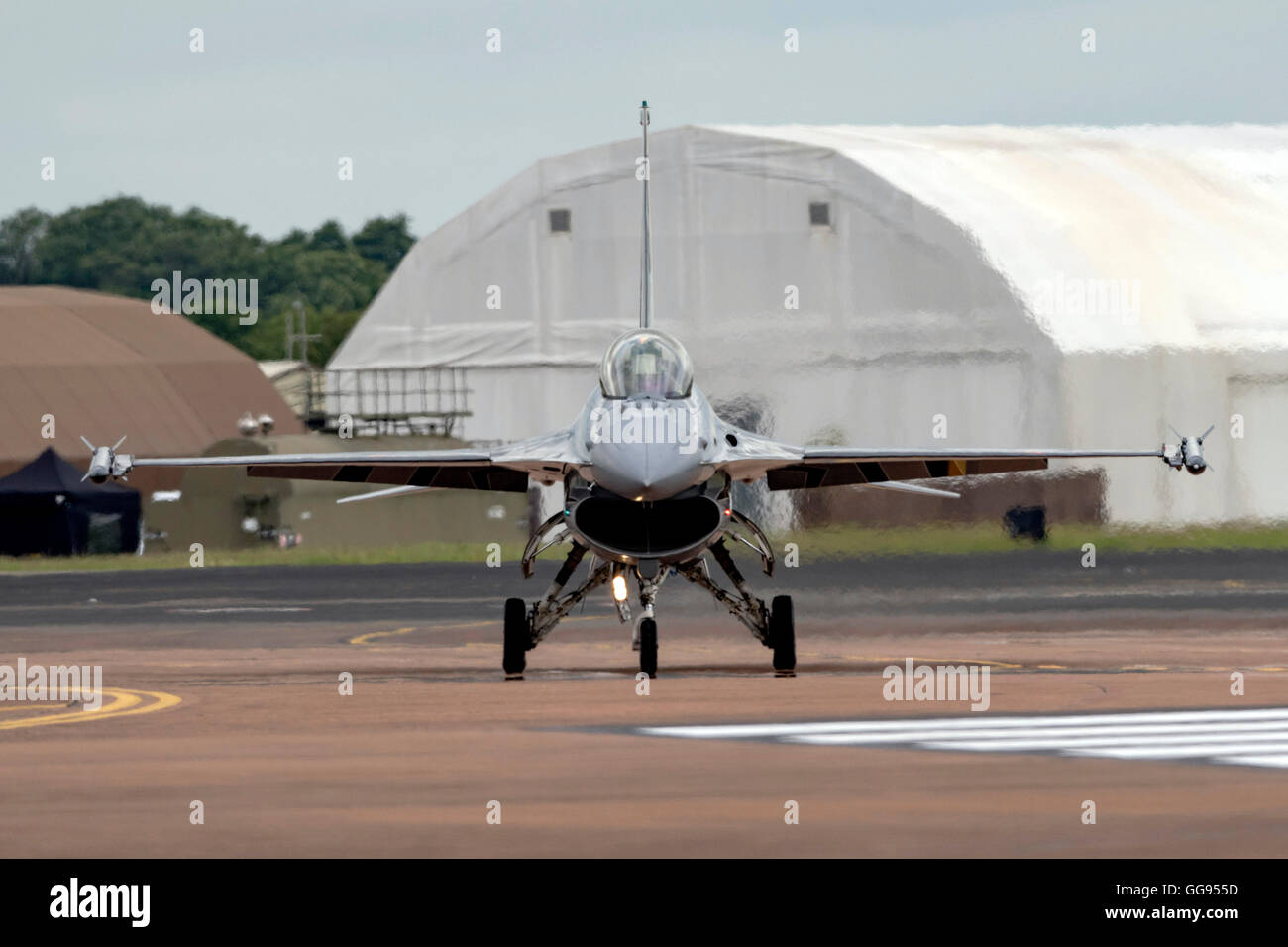 F-16A MLU Fighting Falcon Belgian Air Force at  the Royal International air Tattoo 2016 - Stock Image