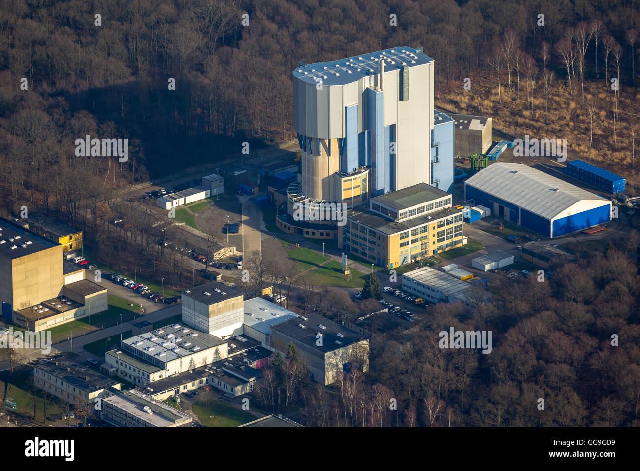 Aerial view, Nuclear Research Centre Jülich, Jülich, Jülich-Zülpicher Börde, Julich, north - Stock Image
