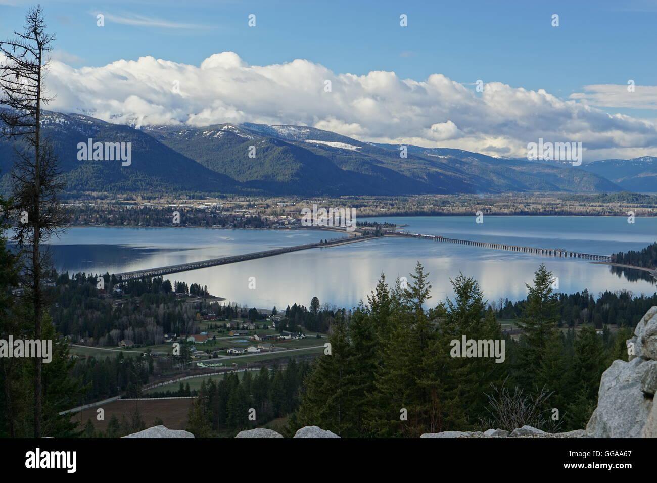 Lake Pend Oreille, Idaho Bird's-eye View - Stock Image
