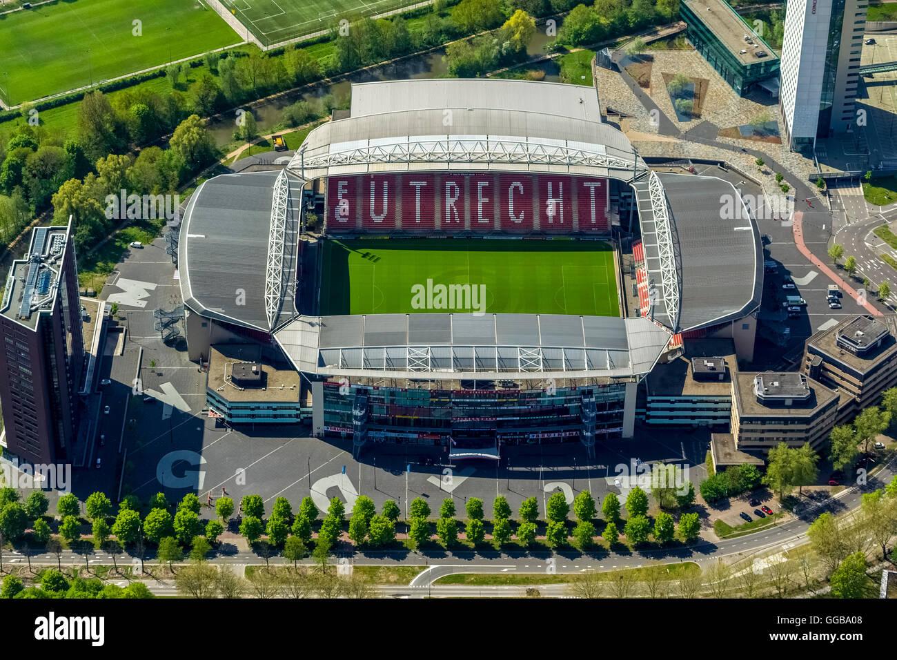 Aerial view, Maison van den Boer Stadion Galgenwaard FC Utrecht, football stadium, Utrecht, Utrecht, Netherlands, - Stock Image