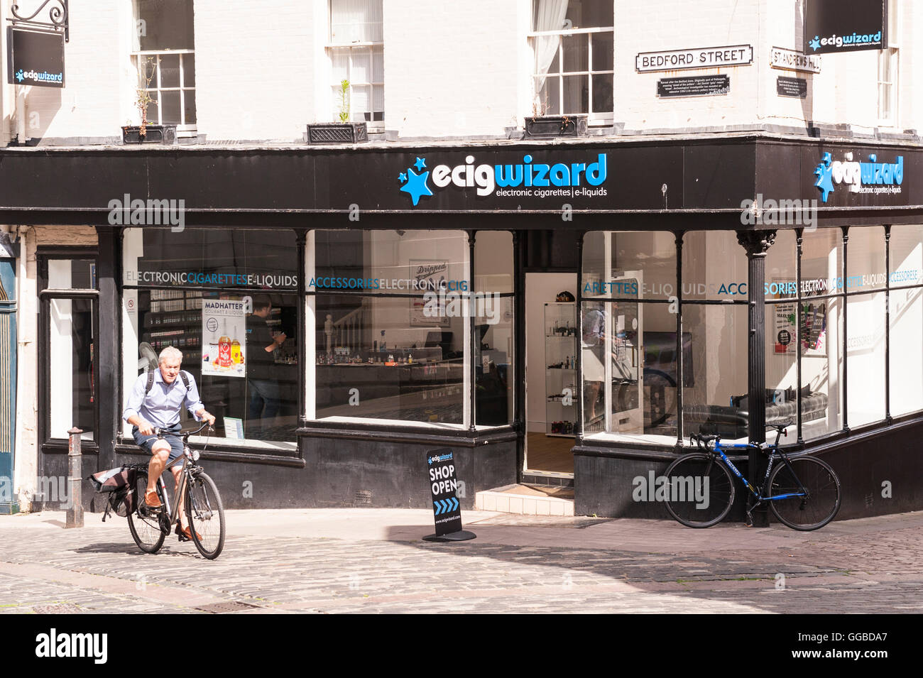The ecigwizard  shop store in Norwich , Norfolk , England , Britain , Uk - Stock Image