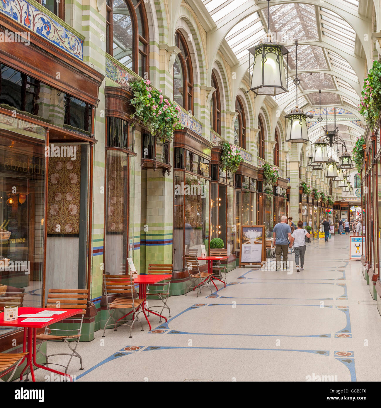 The Royal Arcade in Norwich , Norfolk , England , Britain , Uk - Stock Image