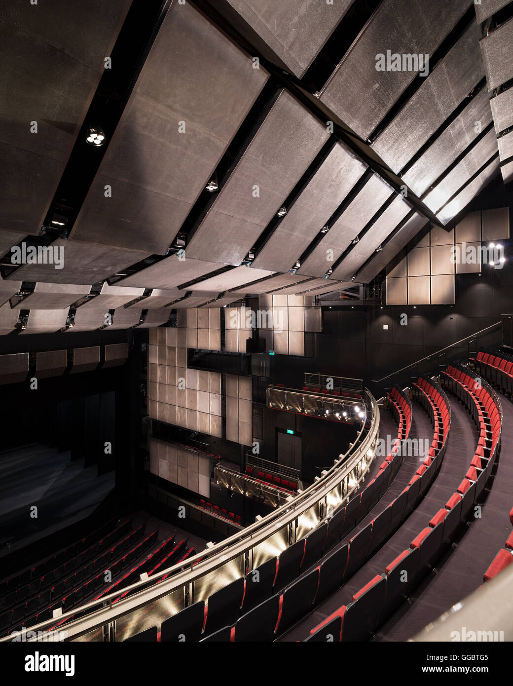 Oblique View Of Auditorium From Balcony Showing Acoustic