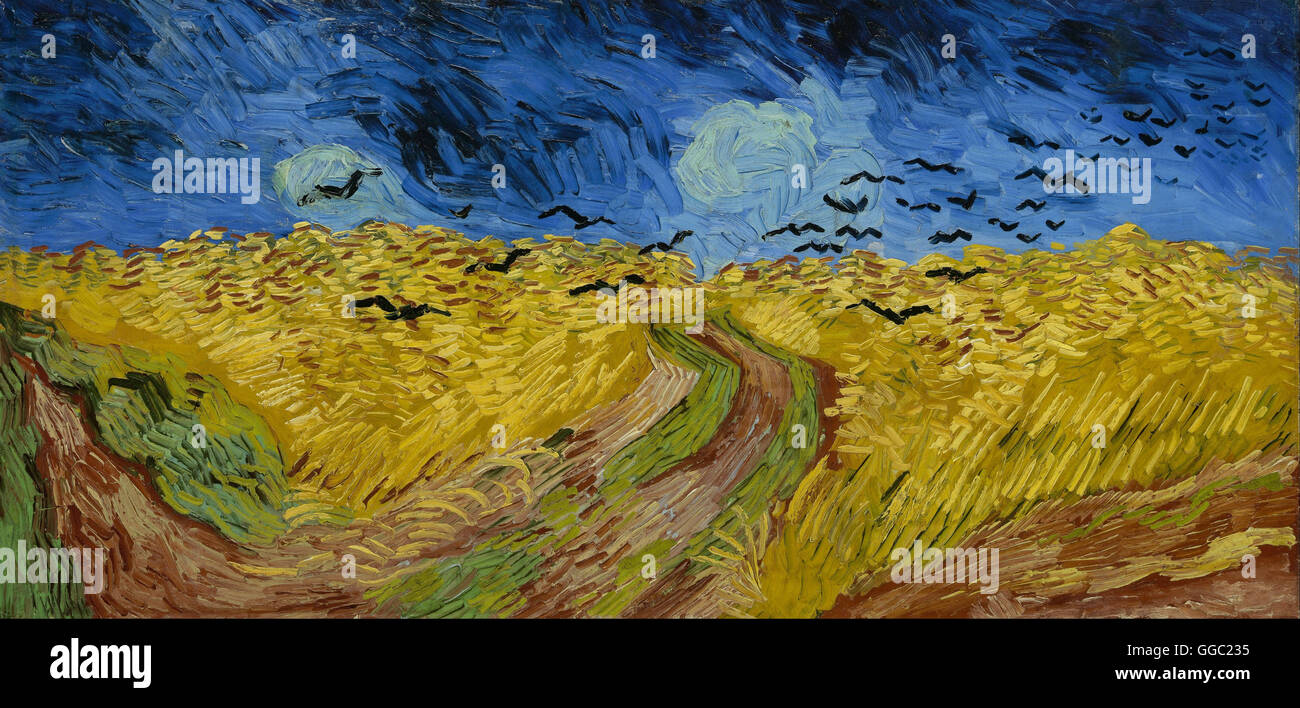Wheatfield with Crows by Vincent Van Gogh - Stock Image