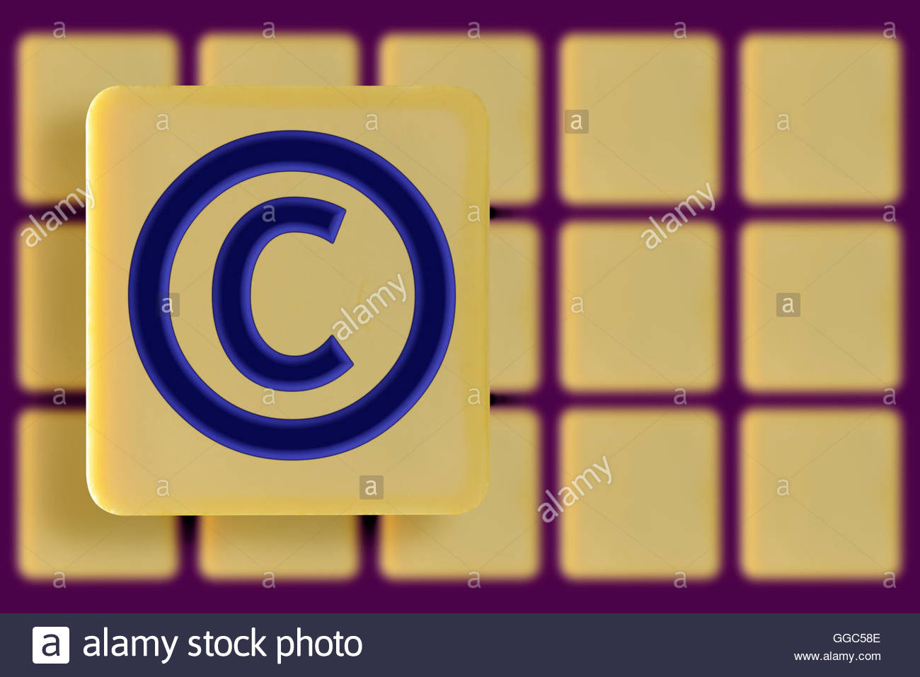 Copyright Symbol On Alphabet Tile Stock Photos Copyright Symbol On
