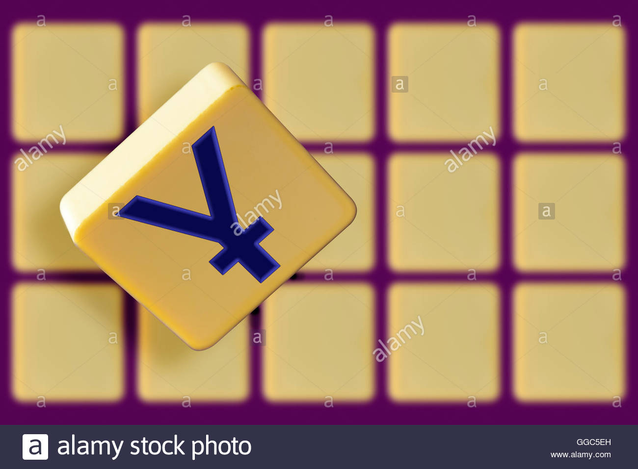 Currency Symbol For Yen And Yuan Alphabet Tile Dorset England