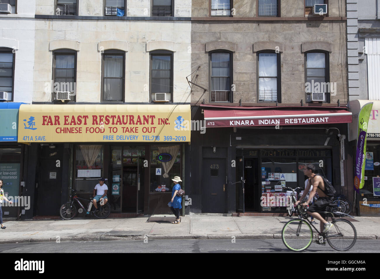 Small Ethnic Restaurants Are Scattered Along 5th Avenue In