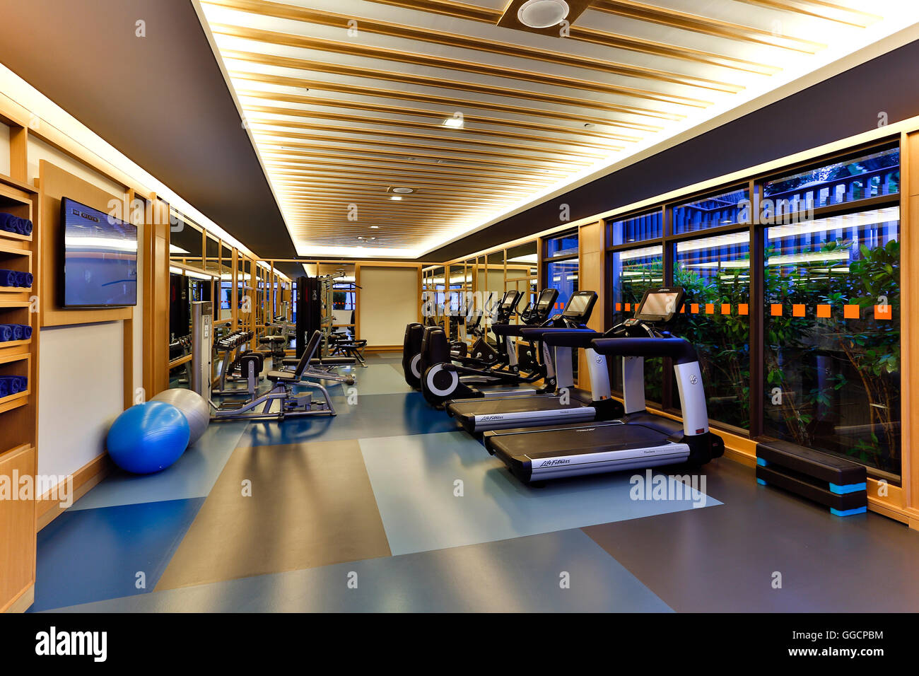 Health club fitness center located in the Amari Phuket on Patong Beach, Phuket, Thailand. - Stock Image