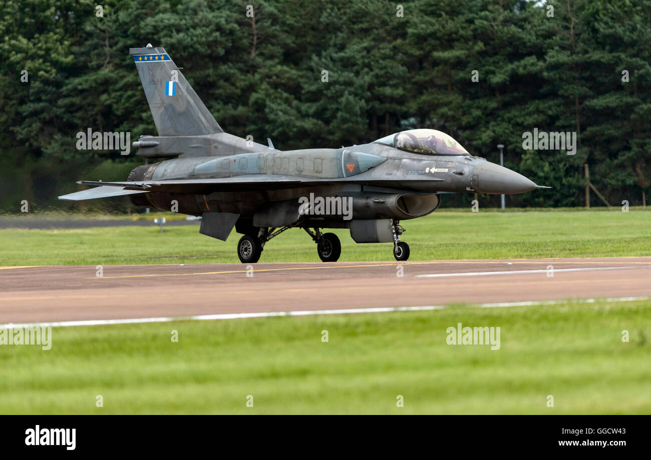 F-16C Fighting Falcon Hellanic Air Force at the Royal International air Tattoo 2016 - Stock Image