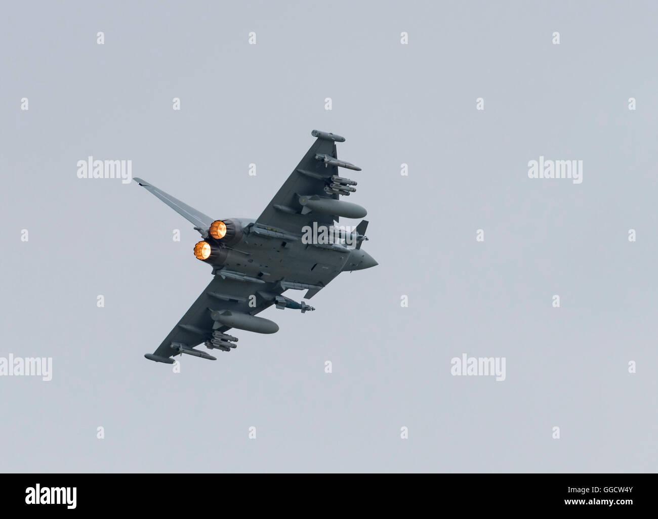 Eurofighter Typhoon BAE Systems Warton at the Royal International air Tattoo 2016 - Stock Image