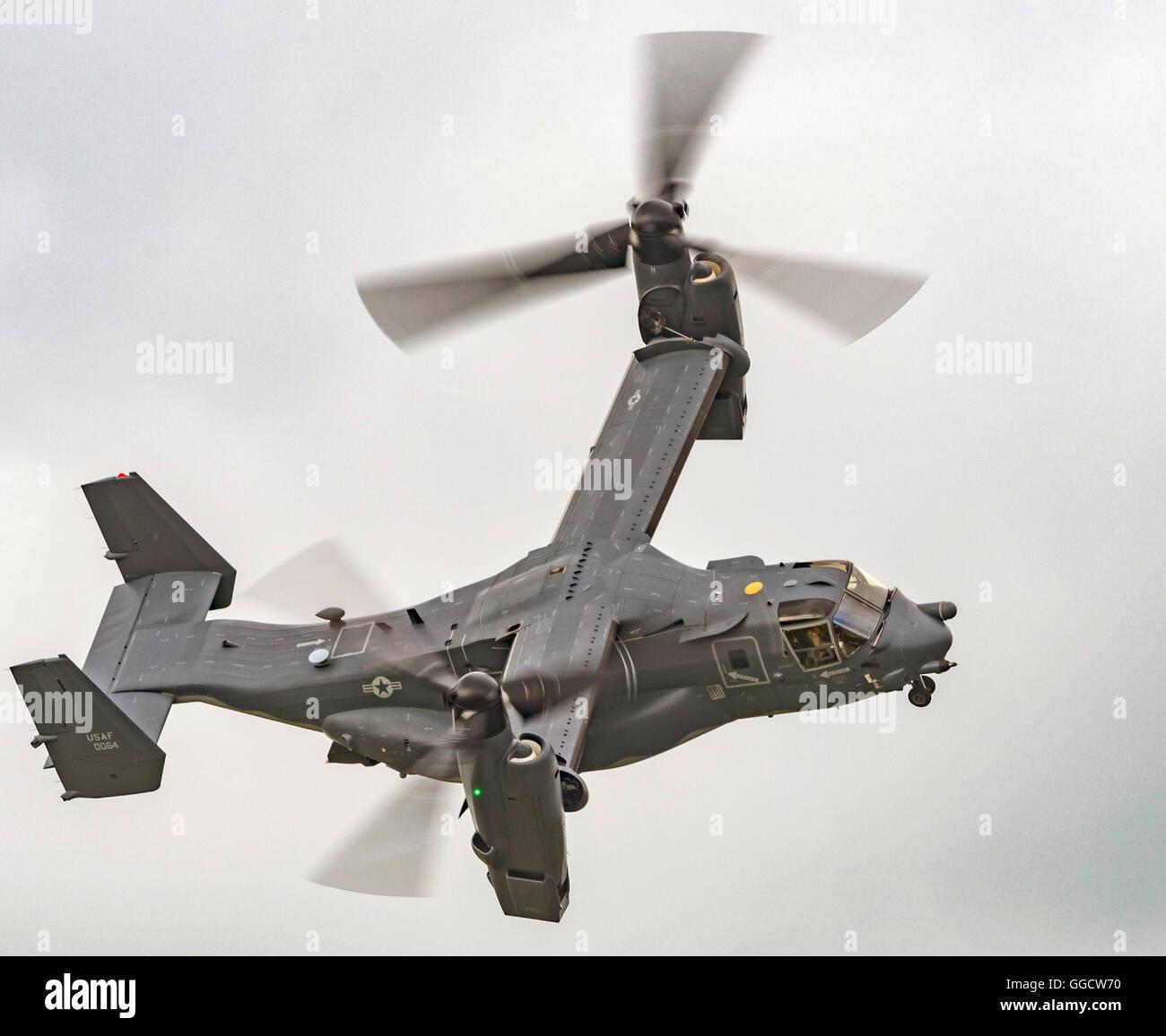 CV-22B Osprey USAF at the Royal International air Tattoo 2016 - Stock Image
