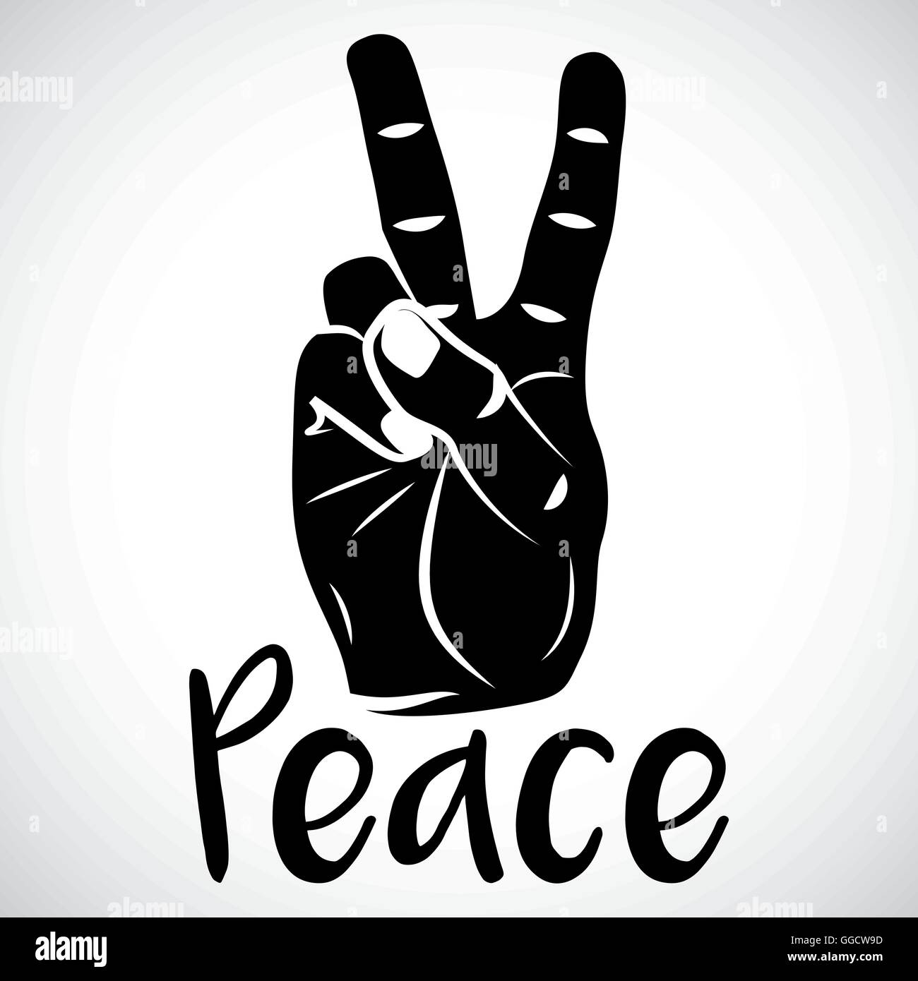 icon hand peace sign for creative use in graphic design stock vector