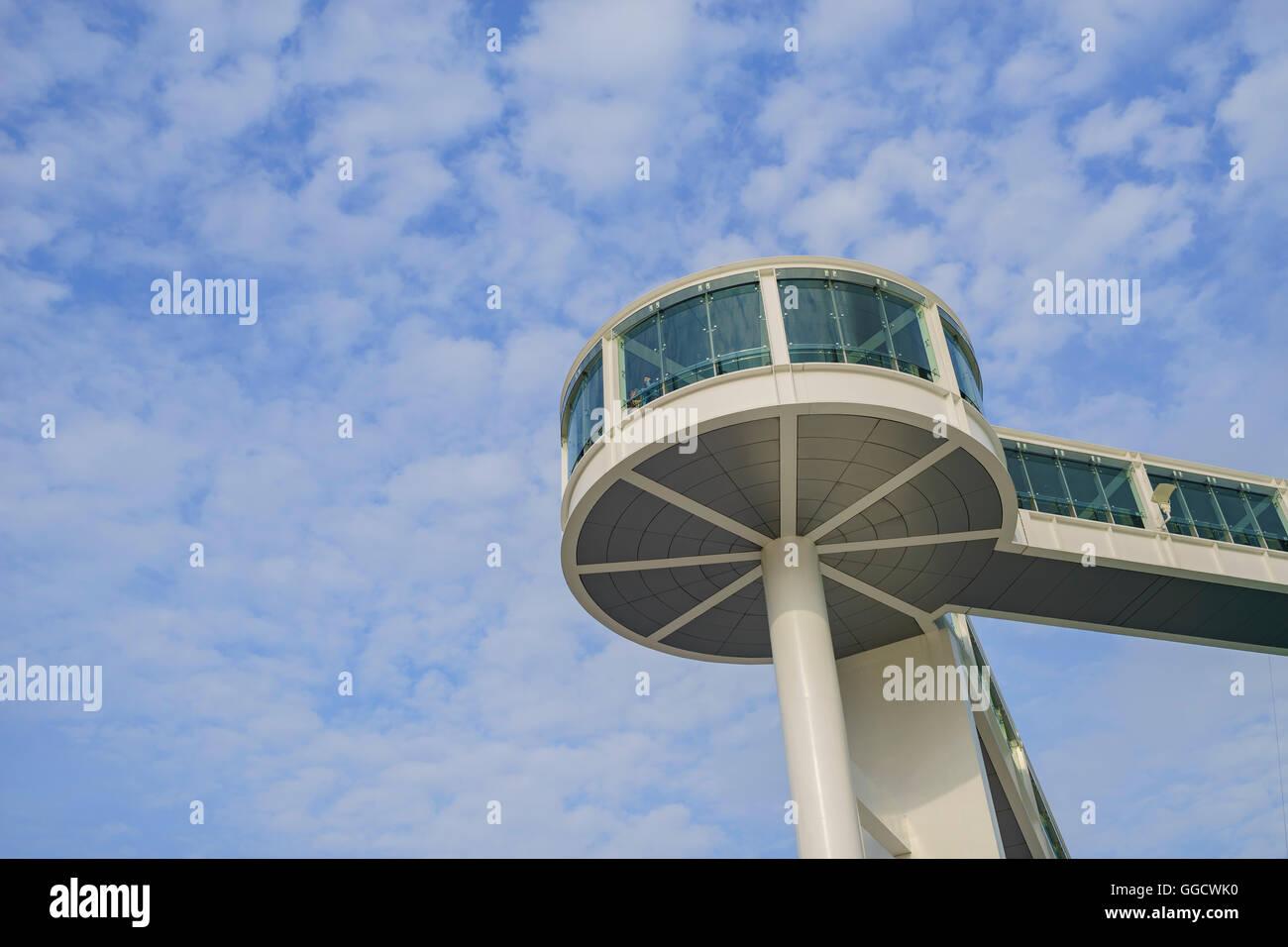 Macau, MAY18: Circle building of Science museum on MAY 18, 2016 at Macau - Stock Image