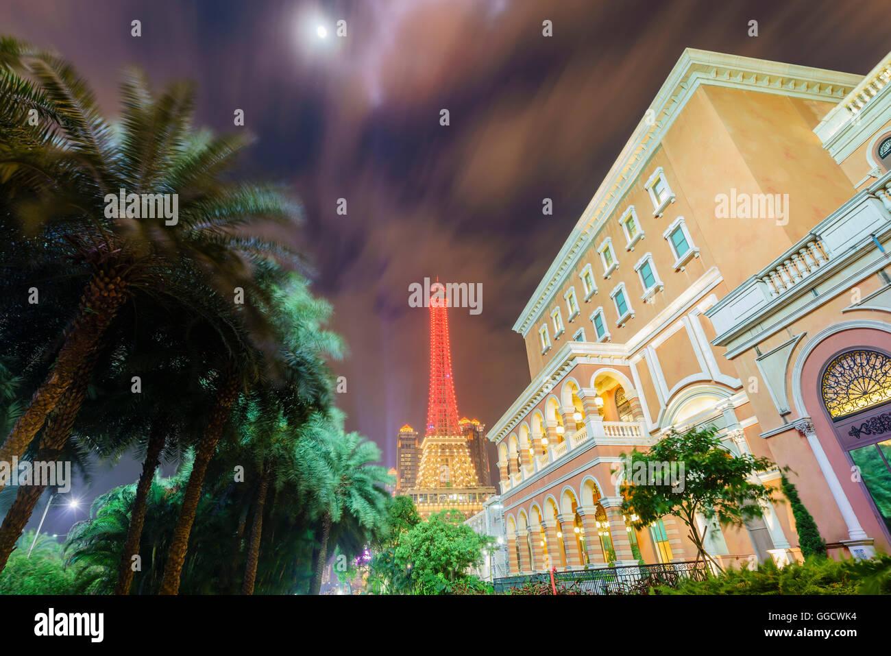 Macau, MAY18: The beautiful building of The Parisian Macao on MAY 18, 2016 at Macau - Stock Image