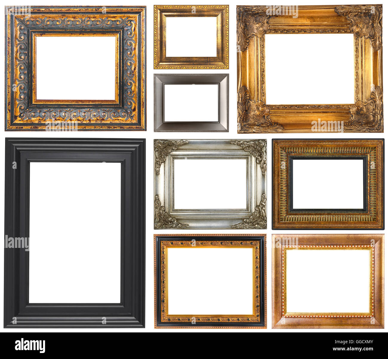 antique frames isolated on a white background stock image antique picture77 white