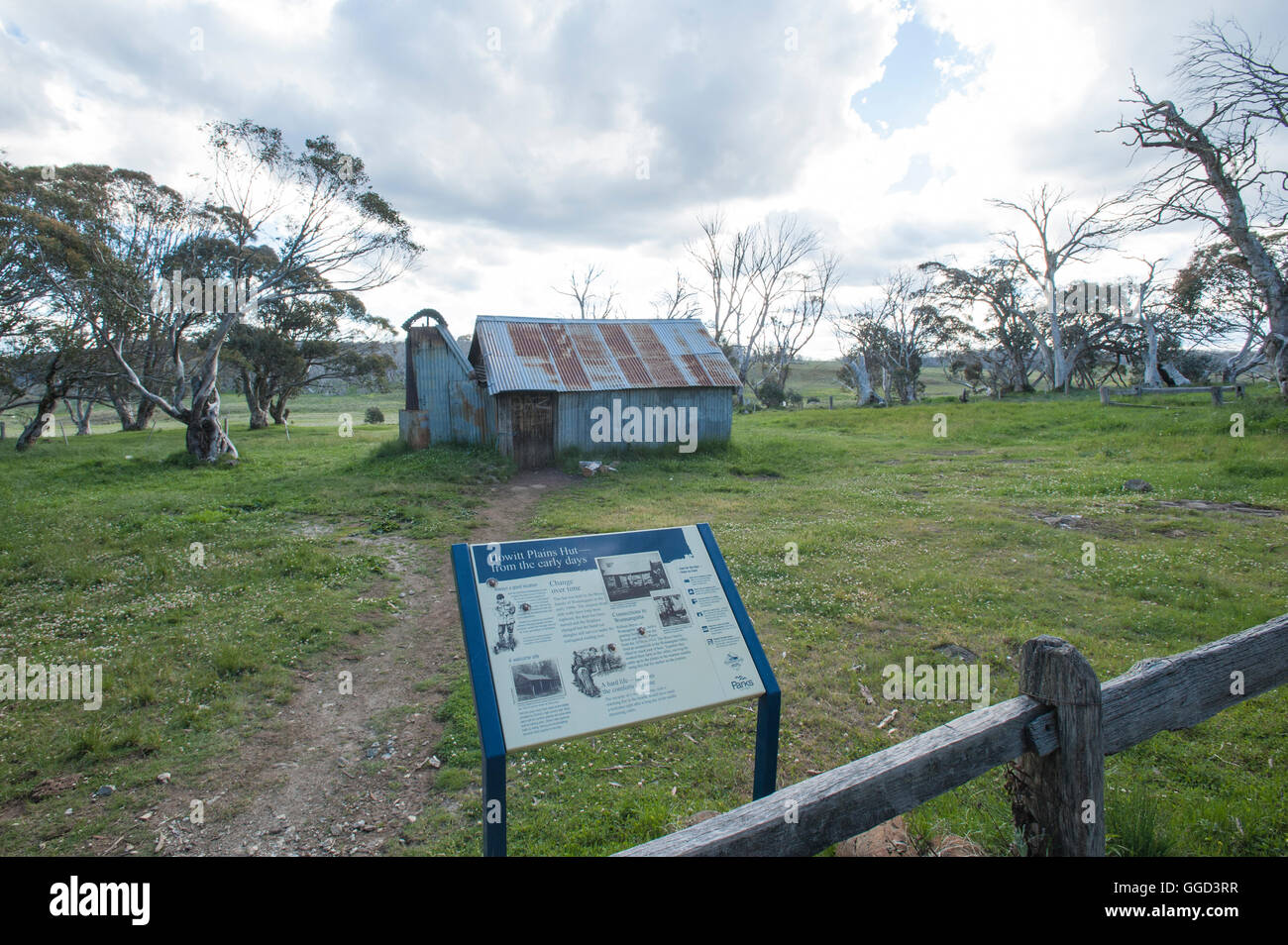 Howitt Plains Hut, Alpine National Park, Victoria High Country - Stock Image