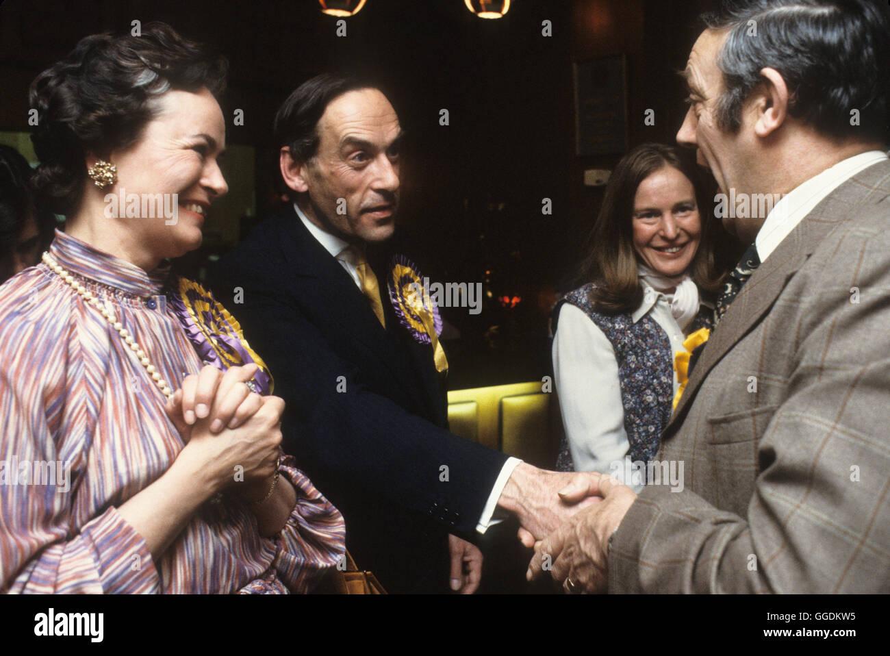 Jeremy Thorpe MP and wife Marion Thorpe  1979 Devon UK HOMER SYKES - Stock Image
