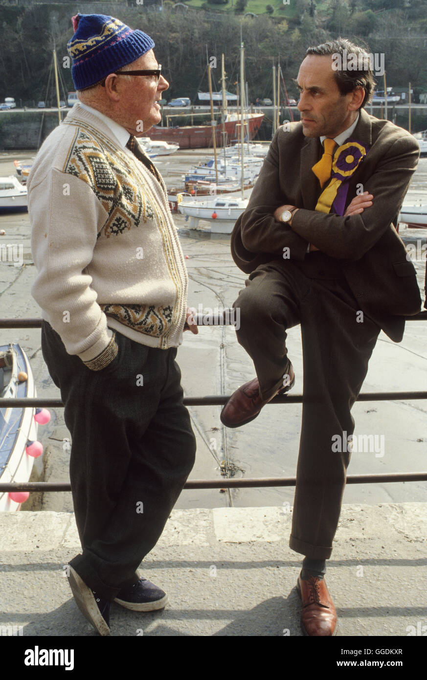 Jeremy Thorpe MP with constituent 1979 Devon UK HOMER SYKES - Stock Image