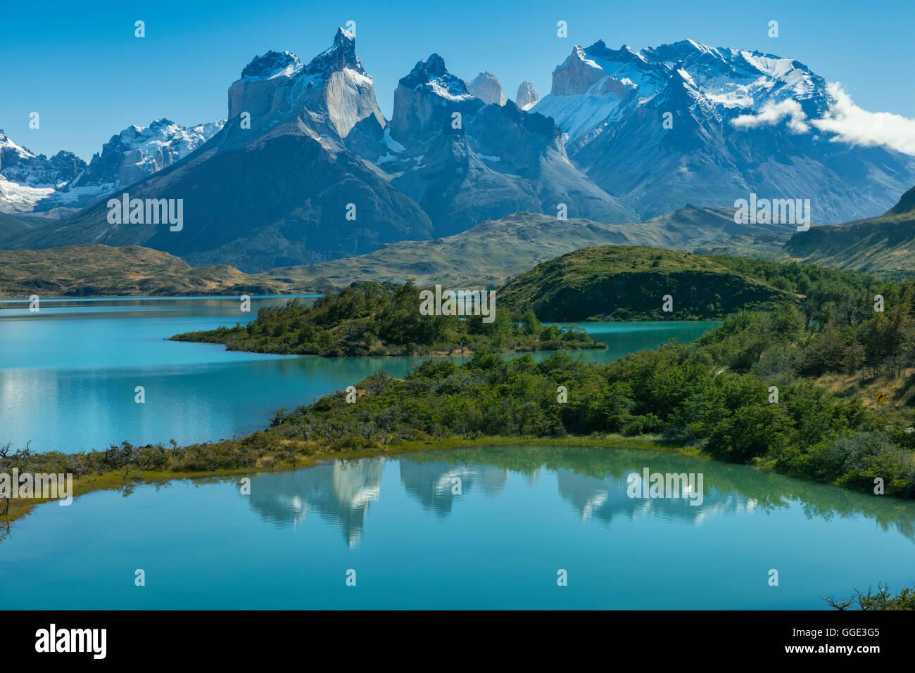 South America; Patagonia; Chile; Región de Magallanes y la Antártica,Torres del Paine; National Park; - Stock Image