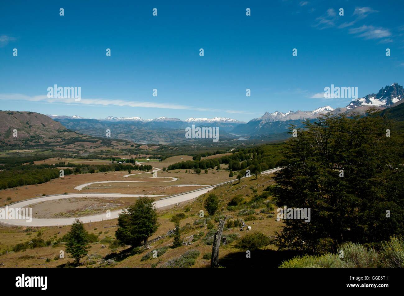 Carretera Austral Road - Chile - Stock Image