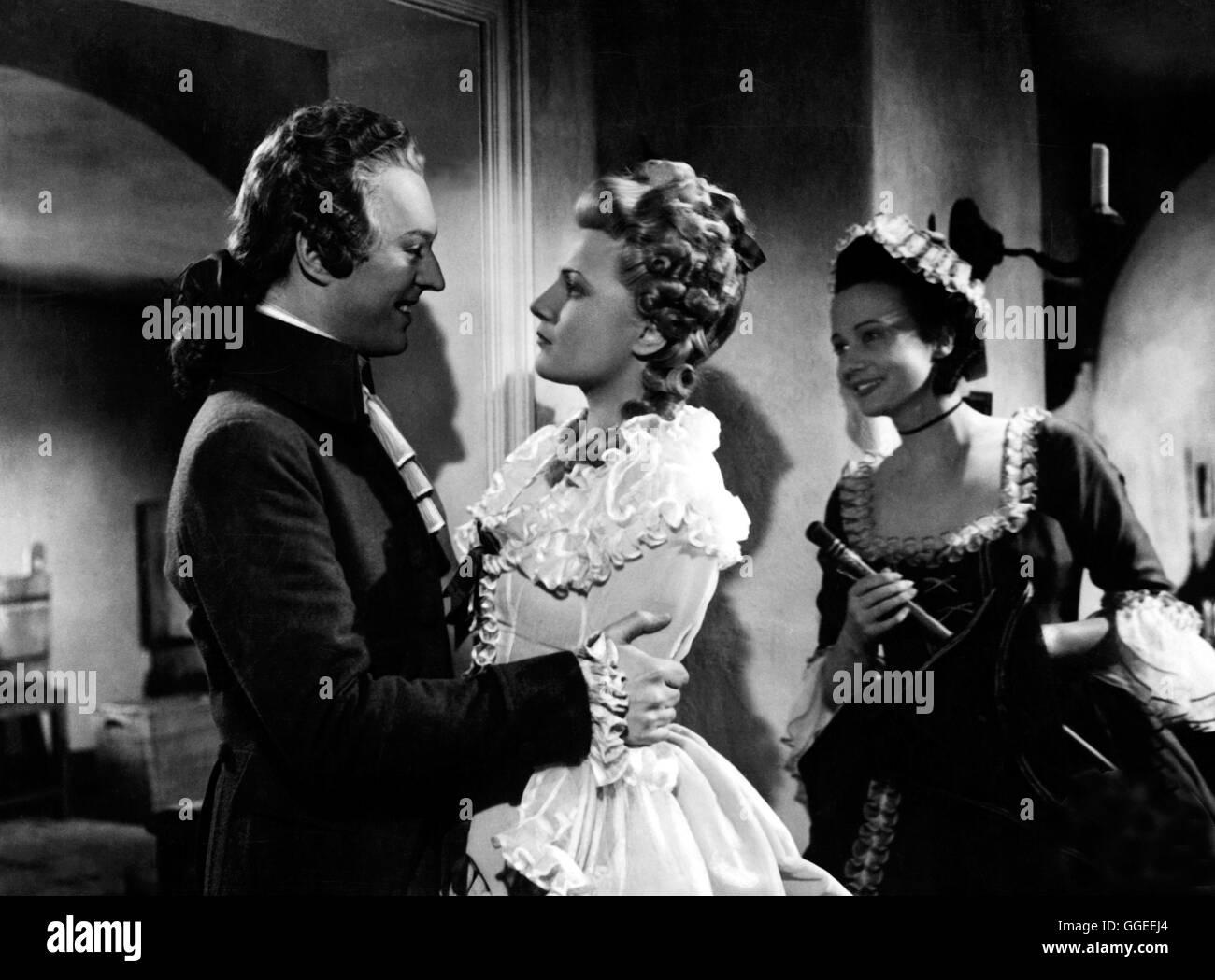 WEN DIE GÖTTER LIEBEN / Deutschland 1942 / Karl Hartl Filmszene mit HANS HOLT (Mozart), IRENE VON MEYENDORFF - Stock Image