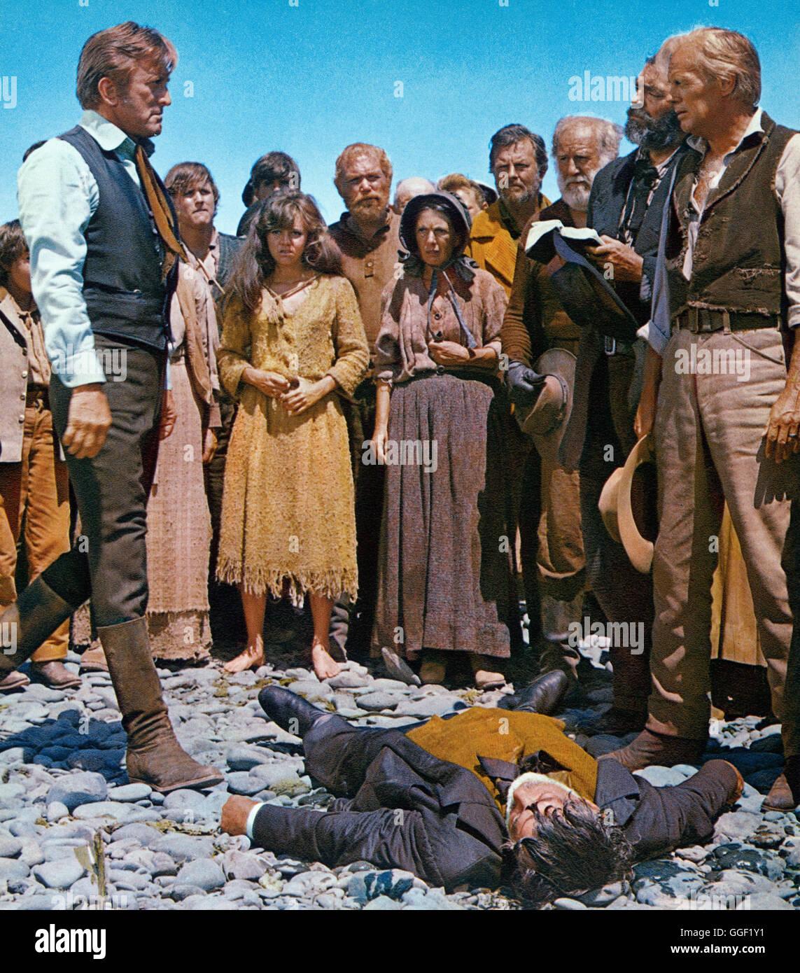 DER WEG NACH WESTEN / The Way West USA 1966 / Andrew V. McLaglen Filmszene mit KIRK DOUGLAS (Senator Tadlock), JACK - Stock Image