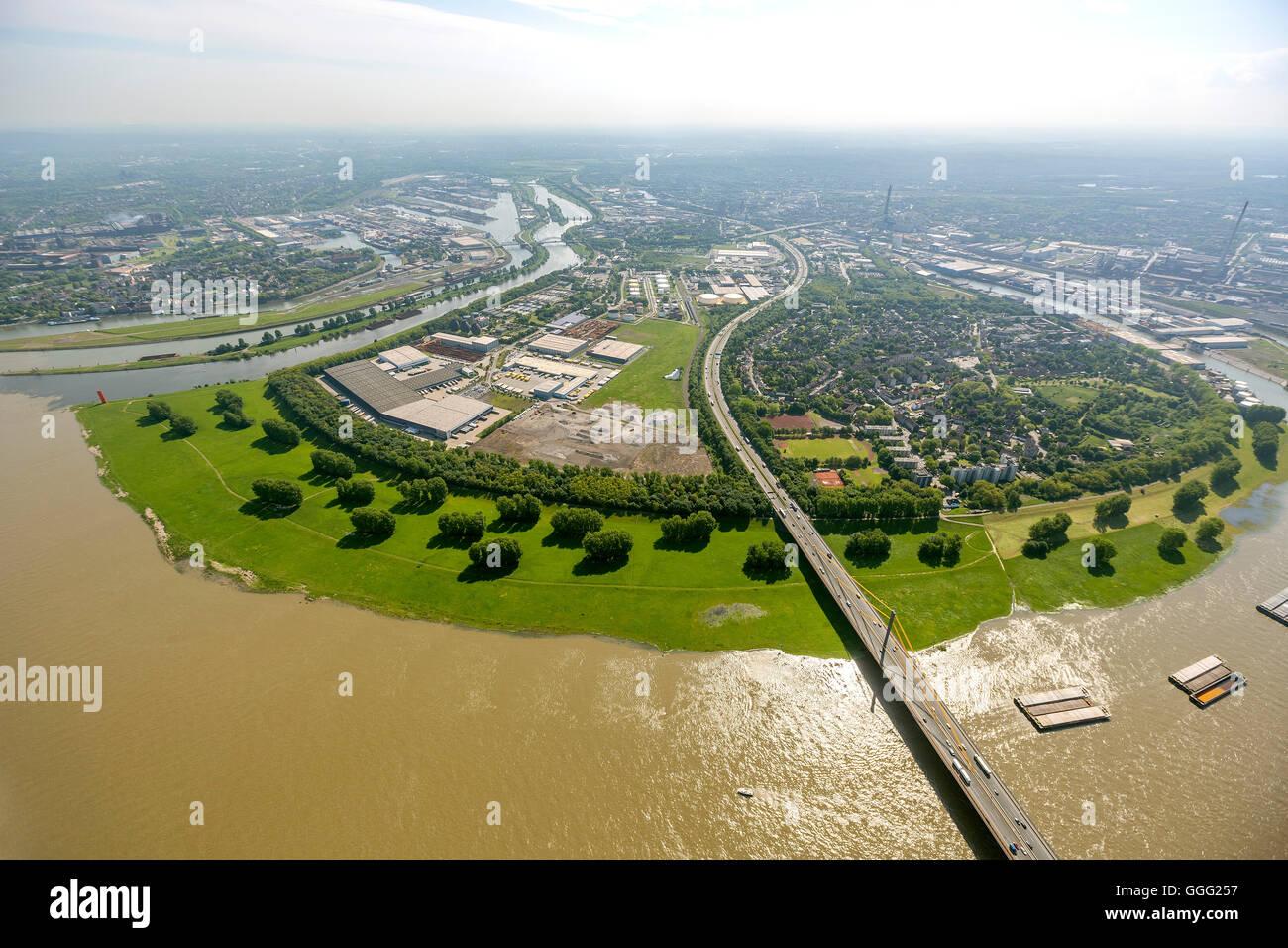 Germany, Europe, aerial photo, bird-eye view, aerial photo, aerial photo, aerial photography, Duisburg, Kassel field, - Stock Image