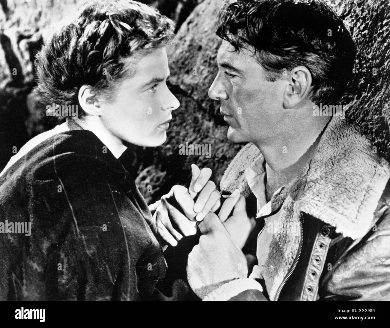 WEM DIE STUNDE SCHLÄGT / For whom the bell tolls USA 1943 / Sam Wood INGRID BERGMAN (Maria), GARY COOPER (Robert - Stock Image
