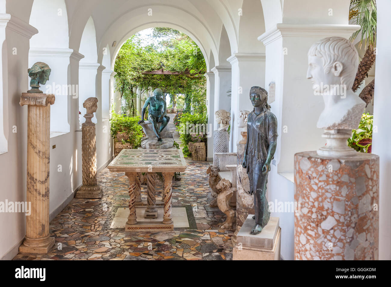 geography / travel, Italy, villa San Michele, Capri, Italy, Additional-Rights-Clearance-Info-Not-Available - Stock Image
