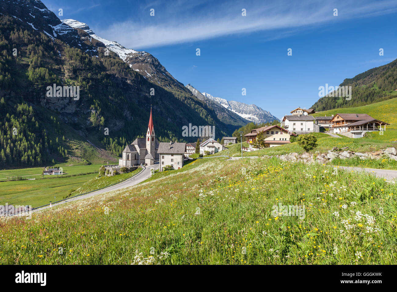 geography / travel, Italy, South Tyrol, Rein in Taufers in the Reintal, Additional-Rights-Clearance-Info-Not-Available - Stock Image