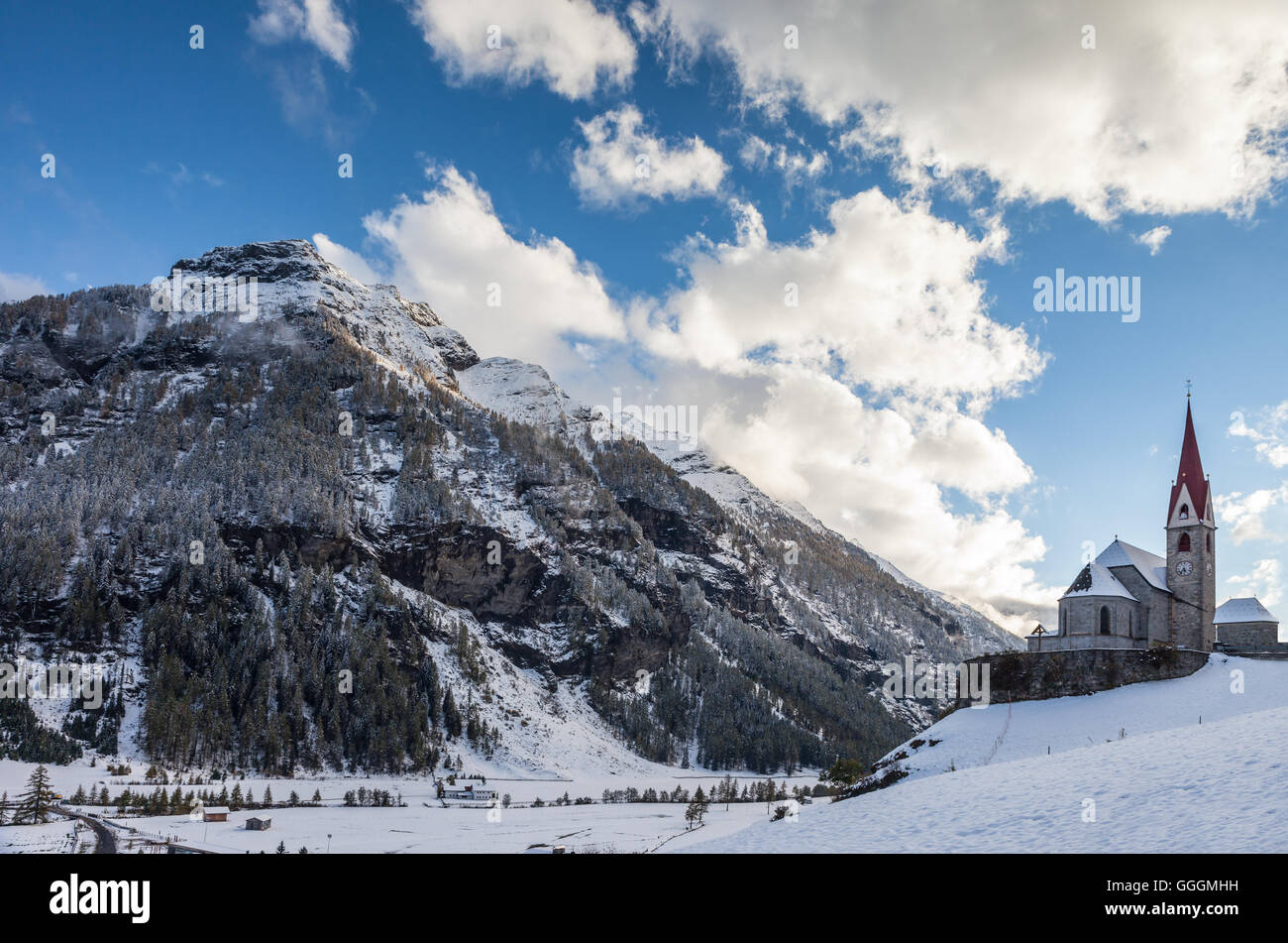 geography / travel, Italy, South Tyrol, immaculate in Taufers and the Rieserferner Group, Reintal, Additional-Rights - Stock Image