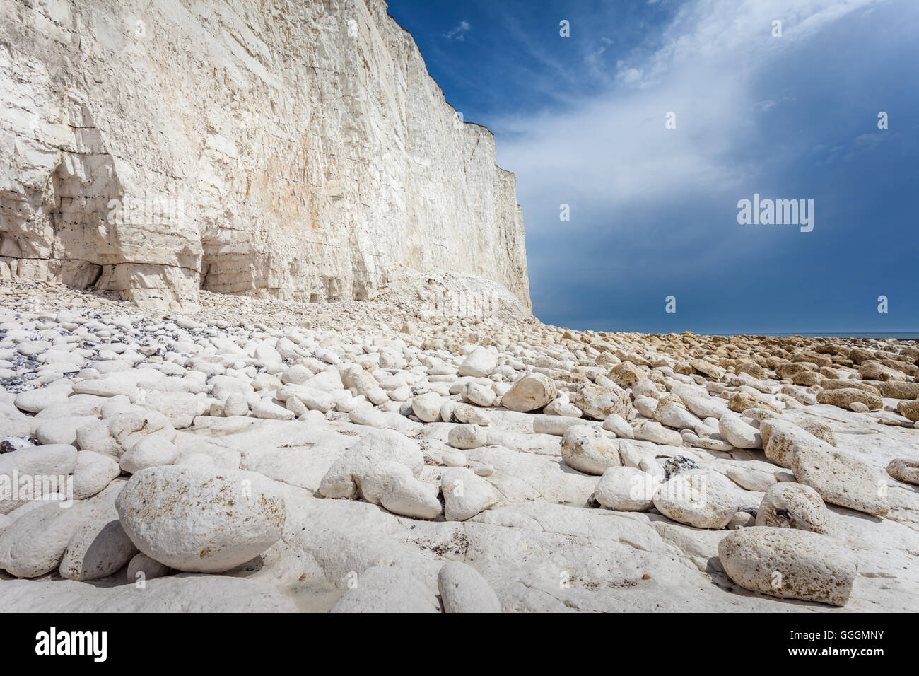 geography / travel, Great Britain, England, chalk cliff Seven Sisters near Birling Cap, East Sussex, Additional - Stock Image