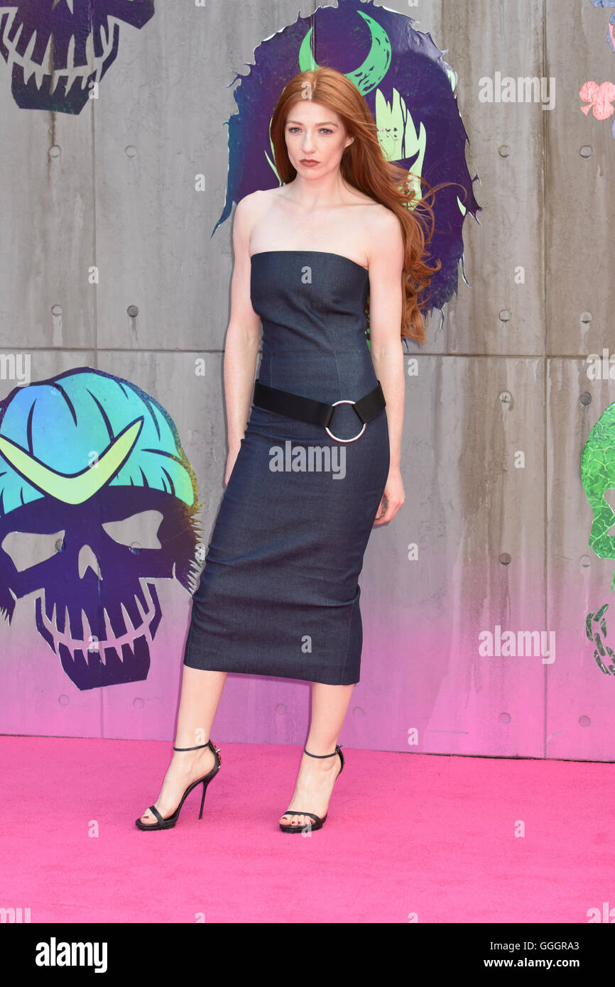 Nicola Roberts,The European Premiere of Suicide Squad,Odeon Leicester Square,London UK - Stock Image